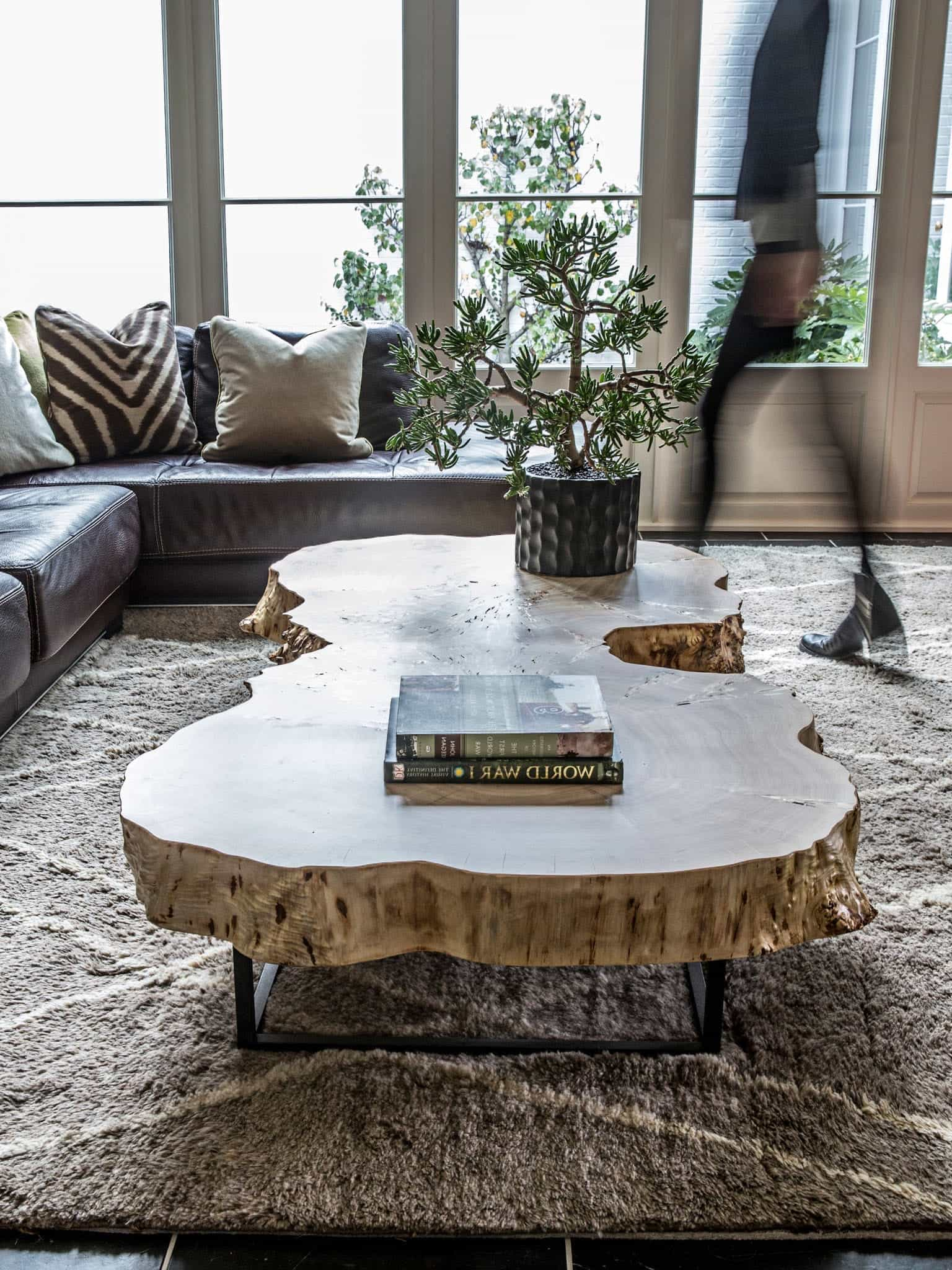 Rustic Tree Trunk Coffee Table (Image 24 of 32)