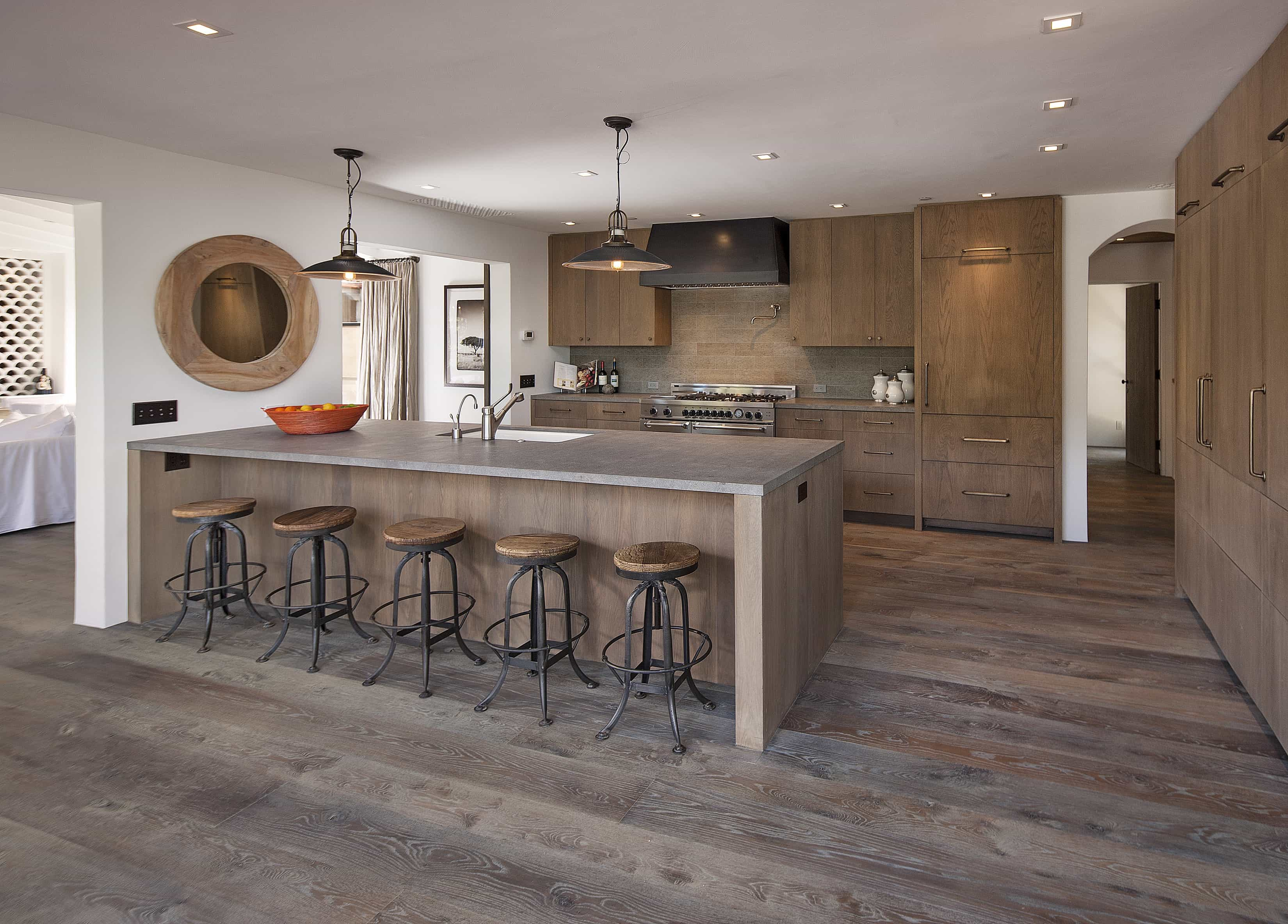 Rustic Wood Kitchen Bar Stools (Image 11 of 15)