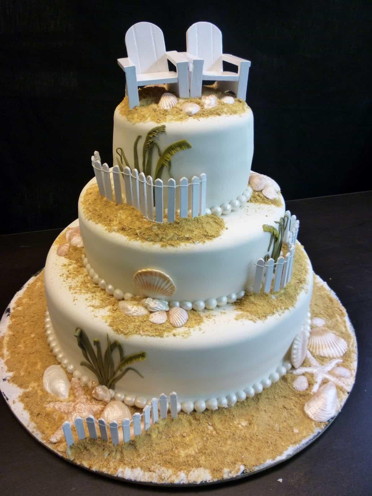 Scrumptious Seaside Groom's Wedding Cakes (Image 10 of 13)