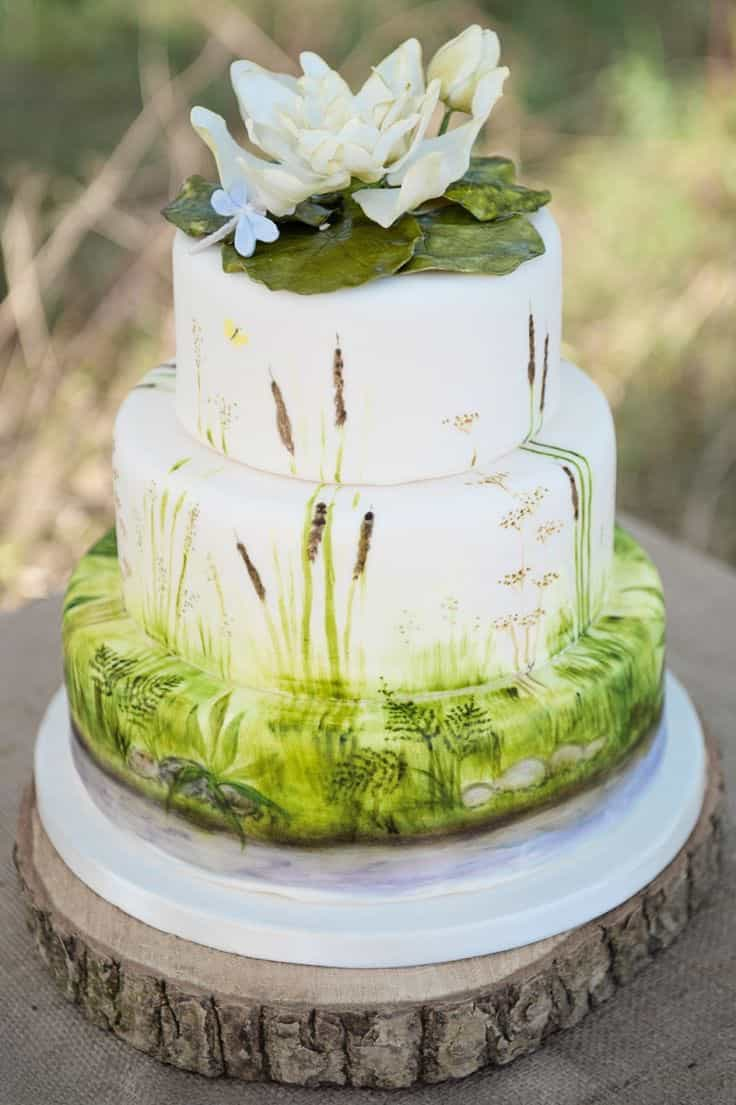 Spring Nature Wedding Cake (Image 5 of 5)