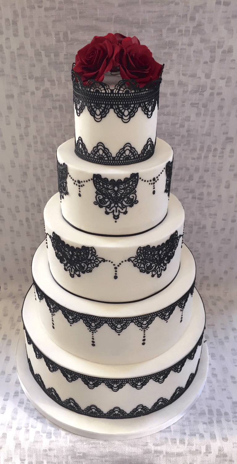 Sweet Couture Tall Wedding Cake With Flower Top (View 20 of 20)