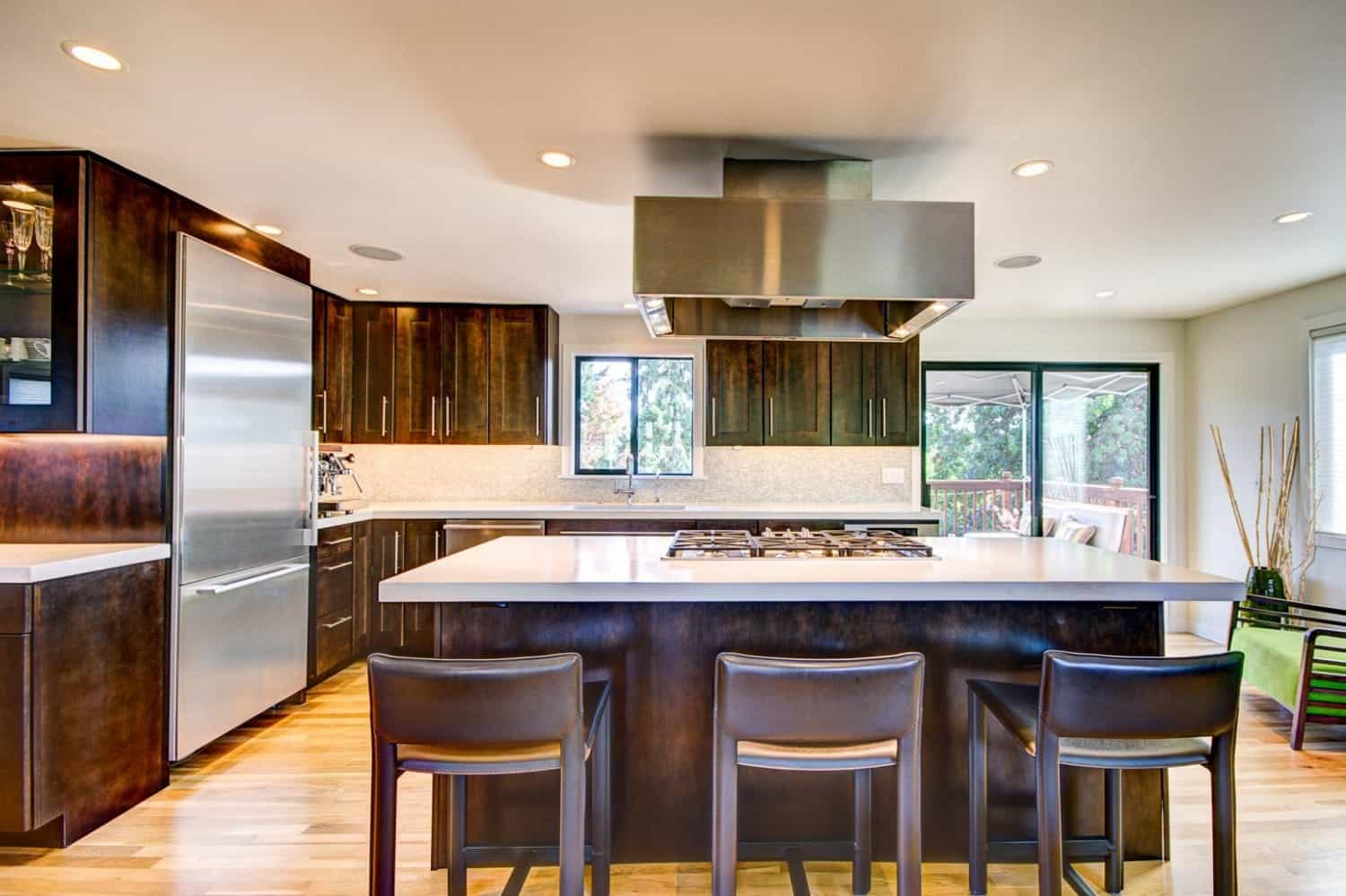 Tranquil Asian Inspired Kitchen Boasts Dark Wood Accents (Image 31 of 32)