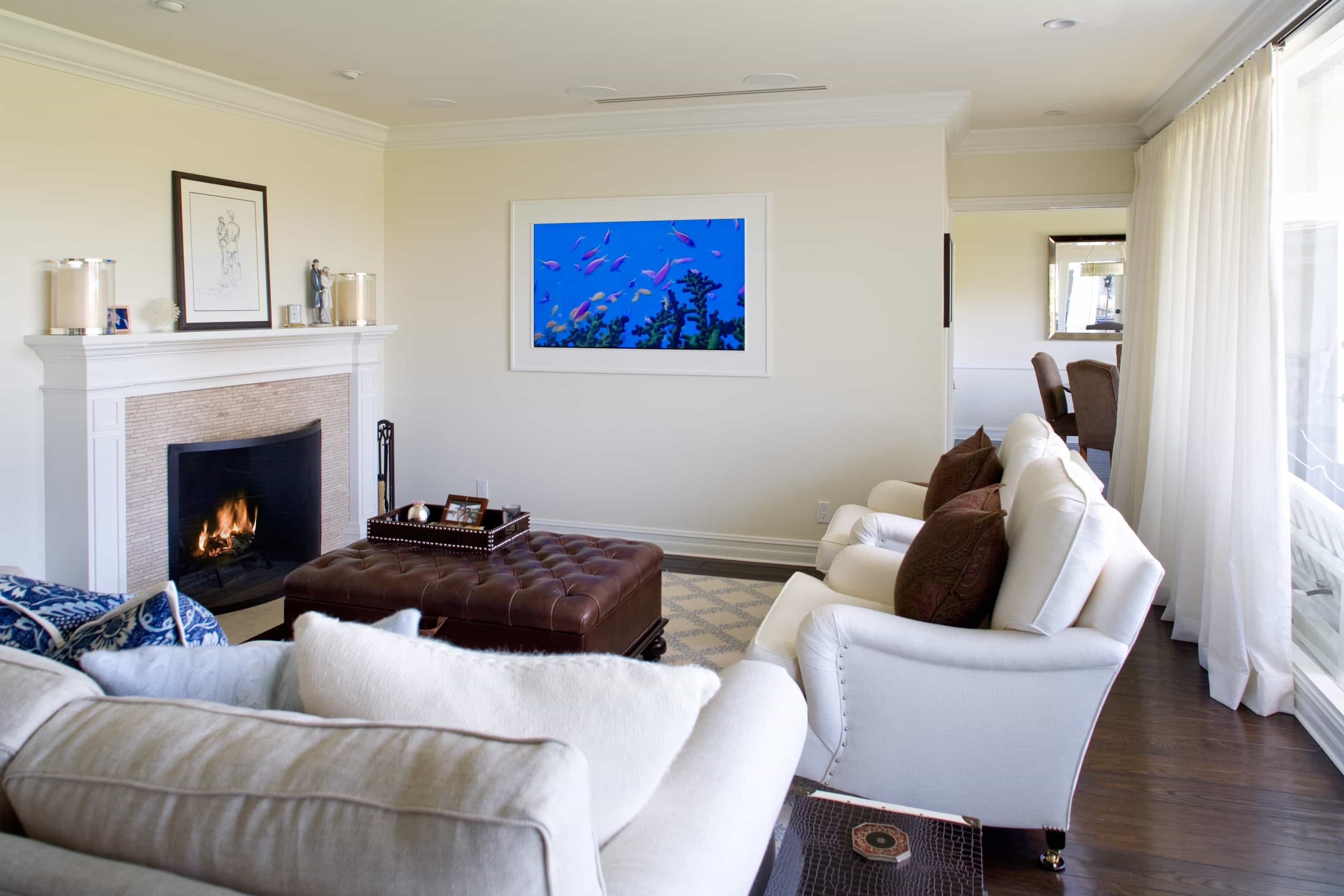 Transitional Living Room With Soft Creamy Royal Sofa (Image 28 of 31)
