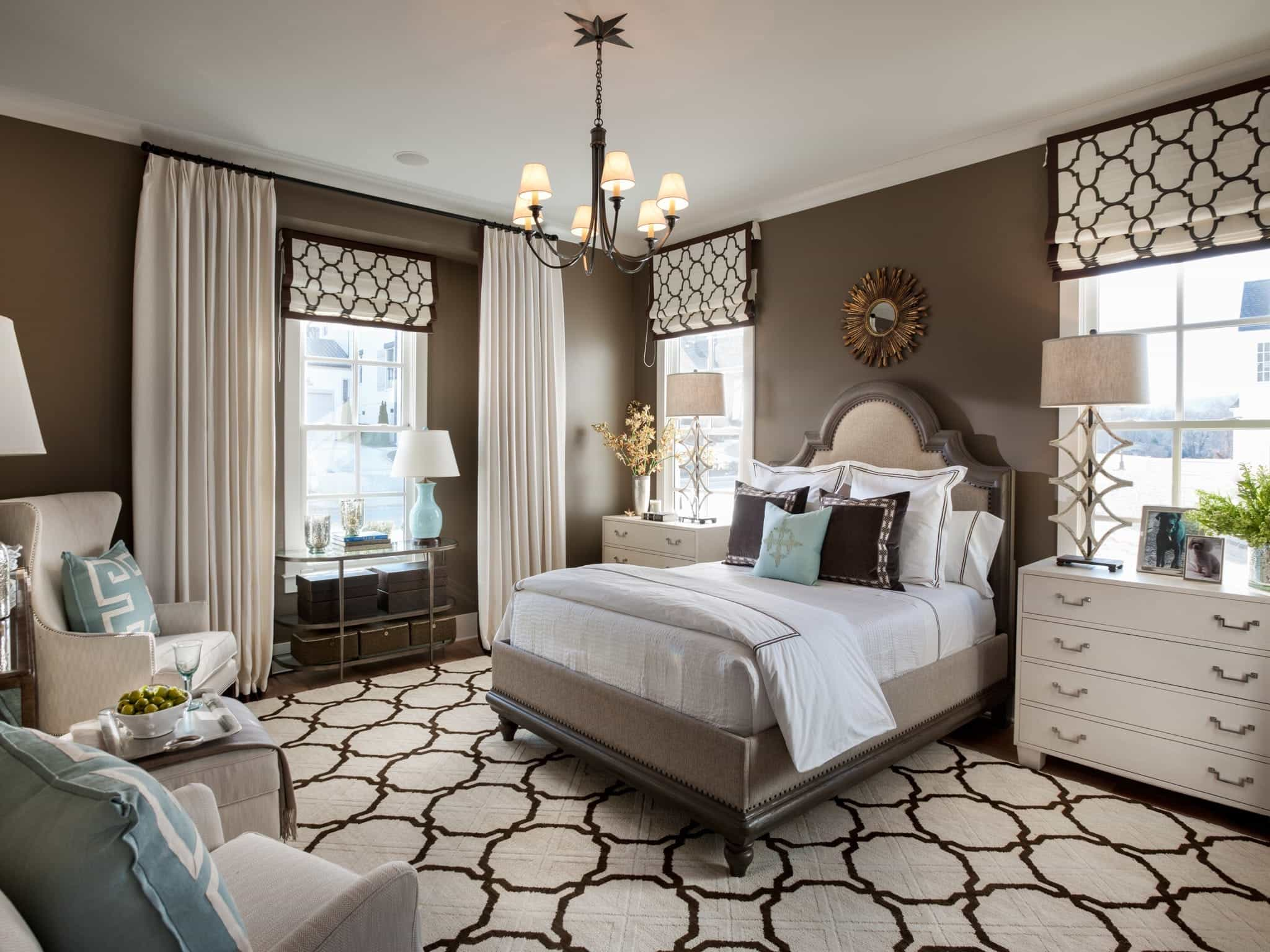 Transitional Style Bedroom In Brown With Carpet Flooring (Image 26 of 28)