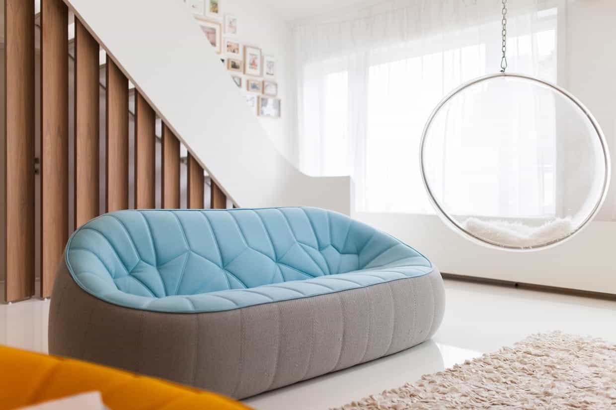 Trendy Futuristic Living Room Sofa With Unusual Shape (Image 6 of 15)