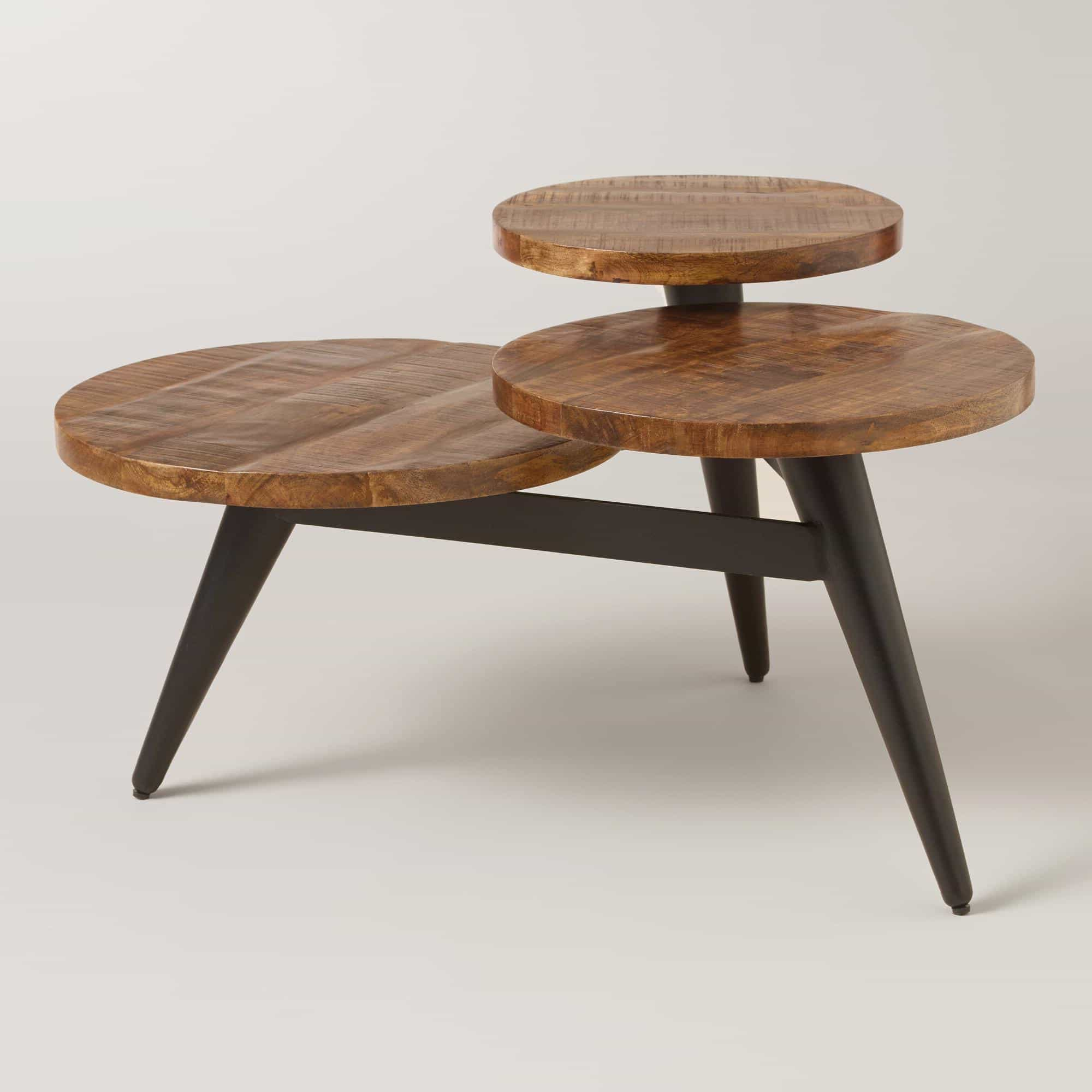 Unique Three Tiers Wood Round Coffee Table In Contemporary Style (Image 30 of 30)