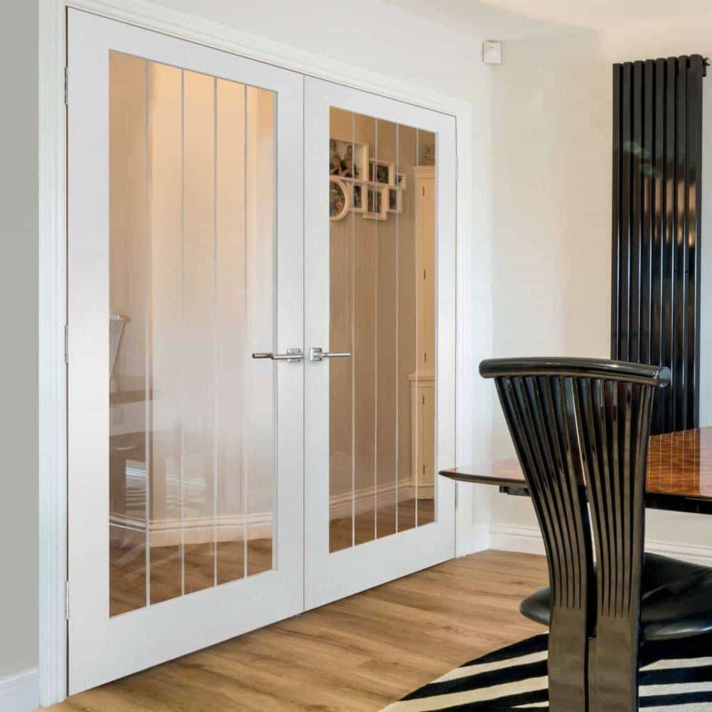 Antique Etched Glass Doors With Minimalist Line (View 6 of 7)