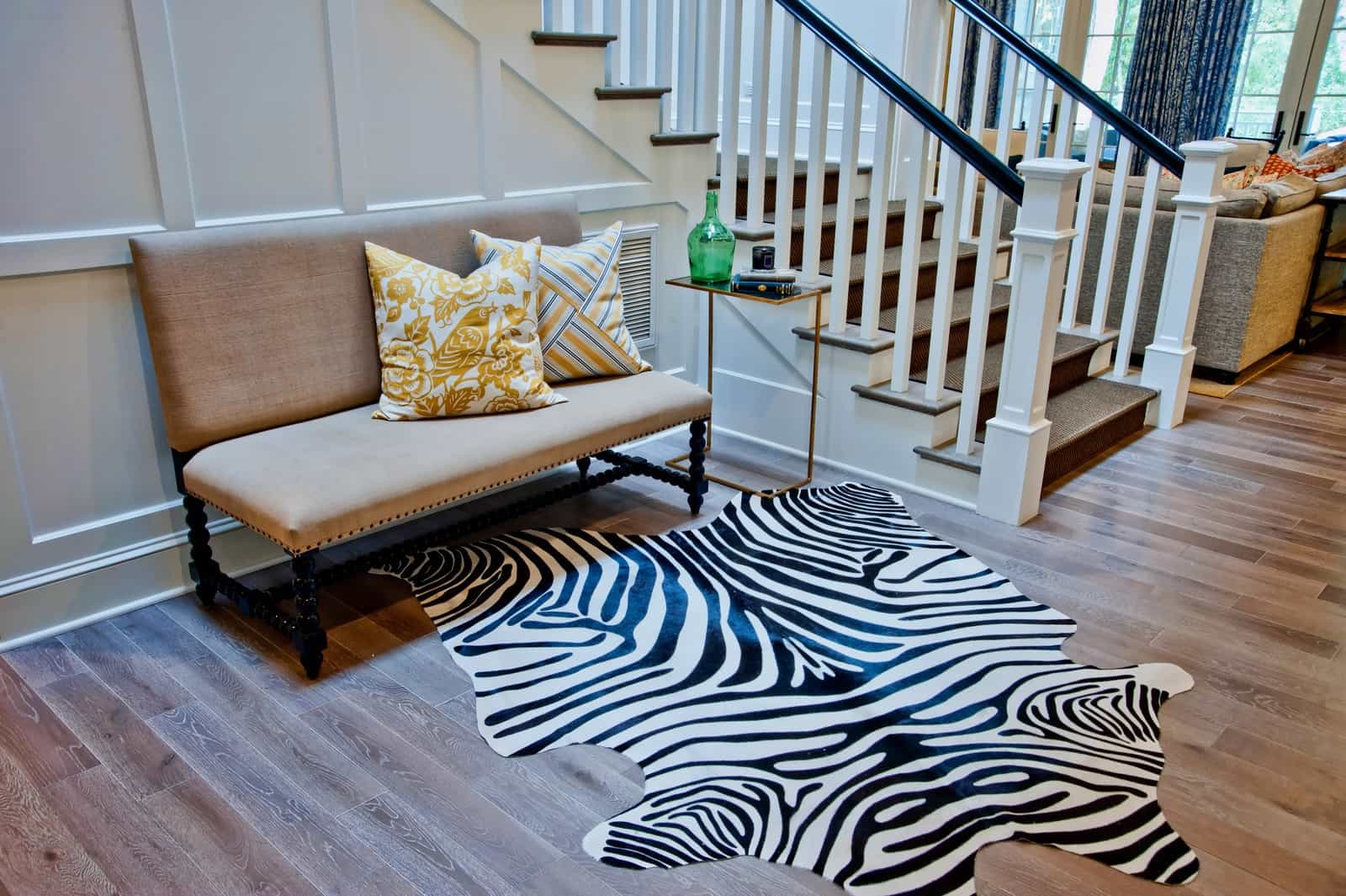 Black And White Zebra Animal Print Rug For Sitting Room Decor (Image 5 of 28)