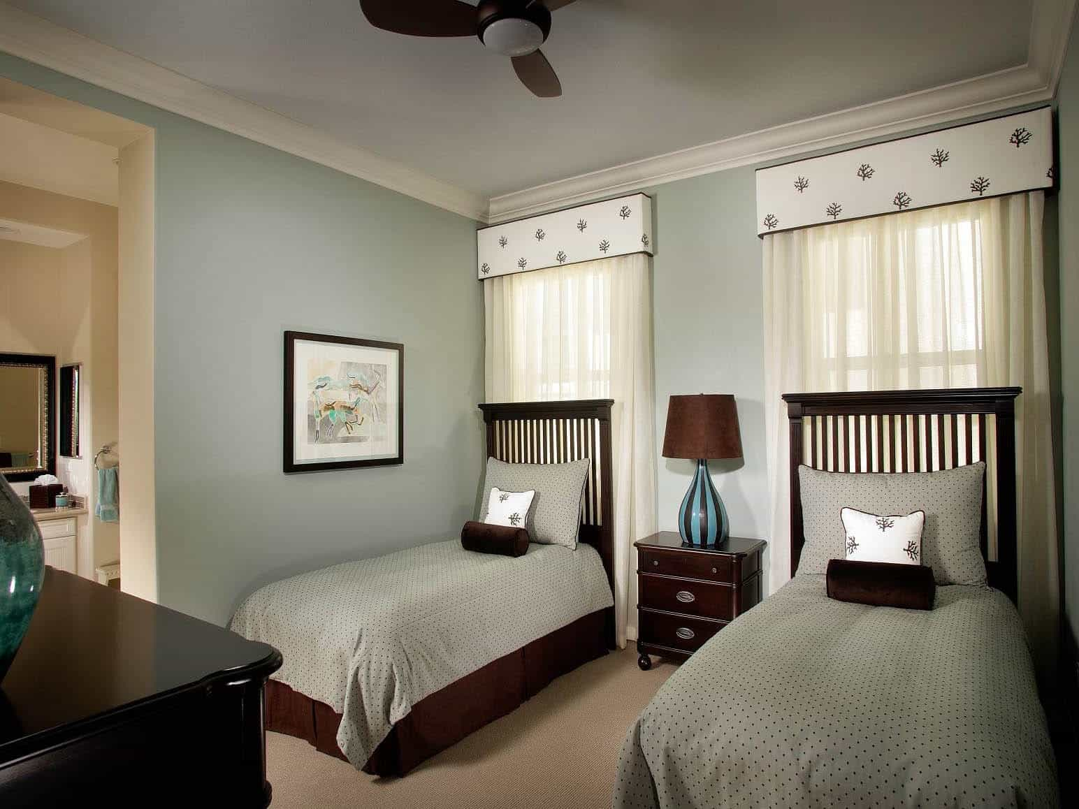 Classic Kids Bedroom With Dark Wood Furniture  (Image 9 of 27)