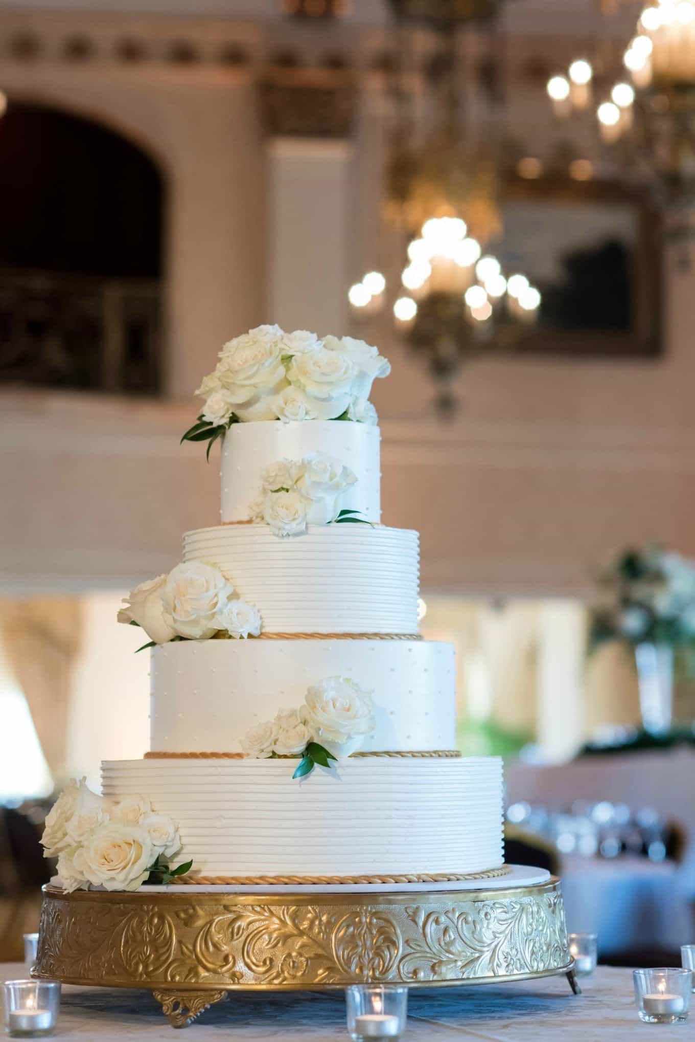 Classic Wedding Cake With Four Tiers (Image 12 of 16)