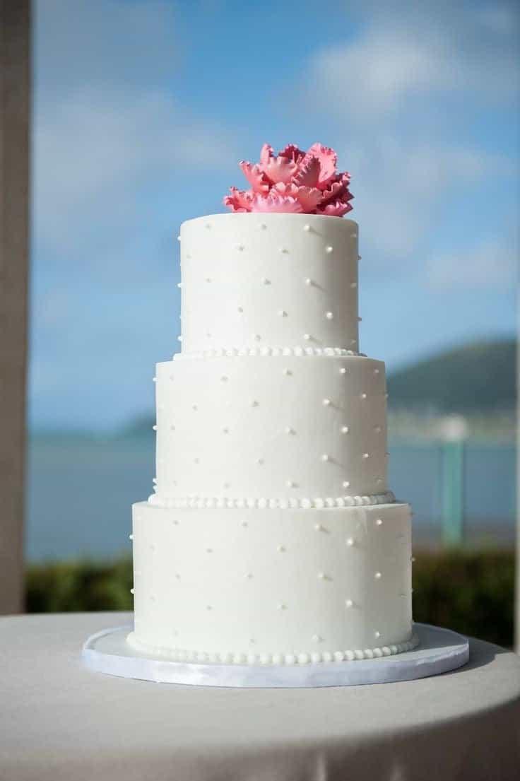 Classic White Wedding Cake (View 9 of 16)