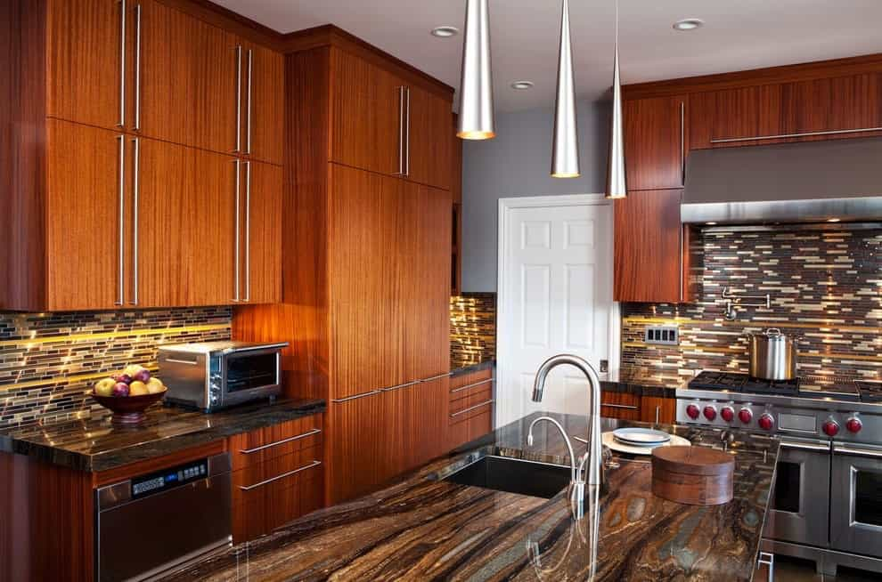 Contemporary African Mahogany Kitchen (Image 5 of 10)