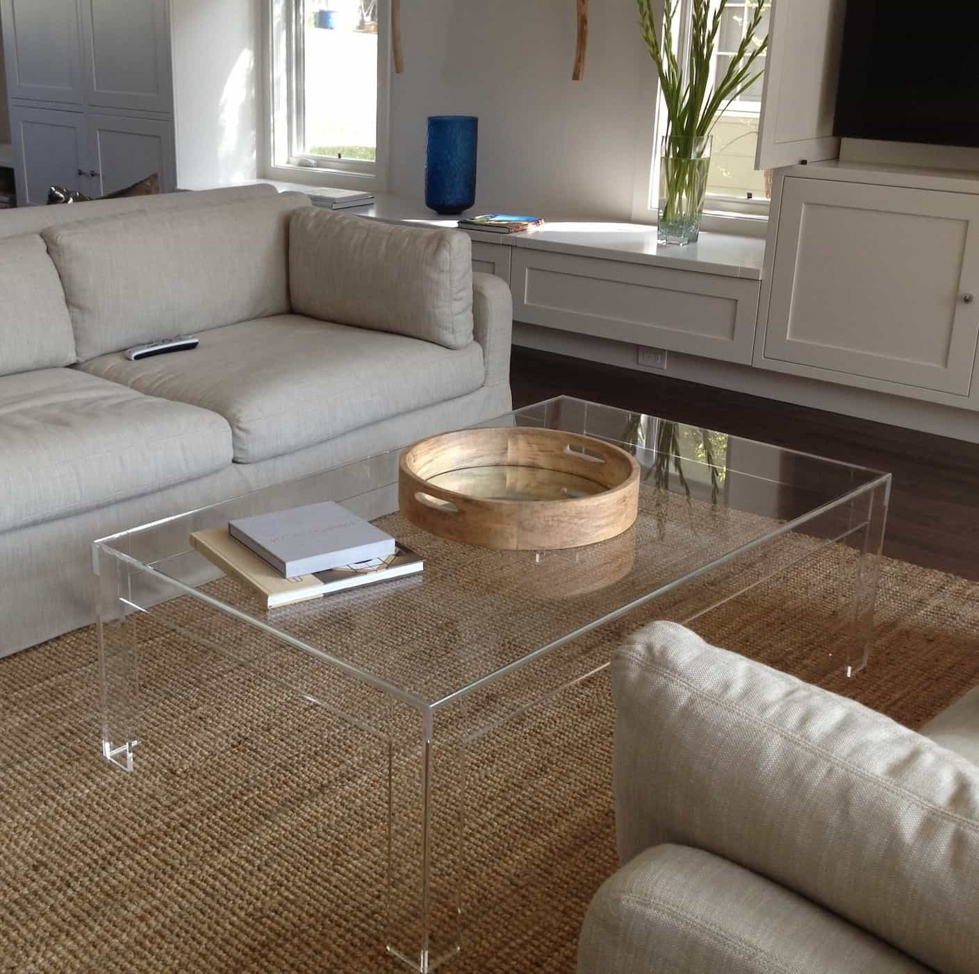 Contemporary Acrylic Coffee Table For Living Room (Image 4 of 30)