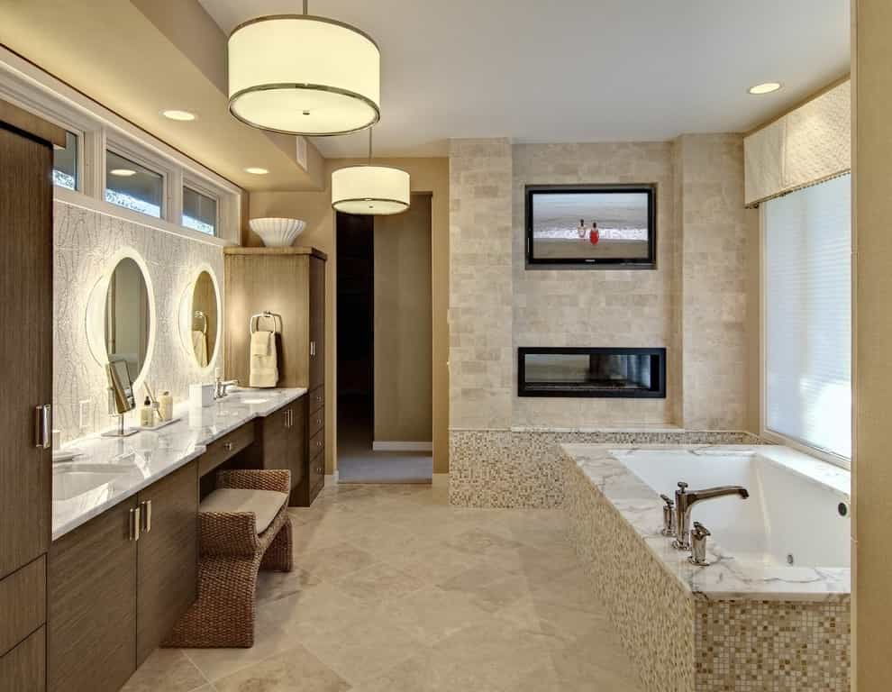 Featured Image of 15 Best Bathroom TV Installation Ideas