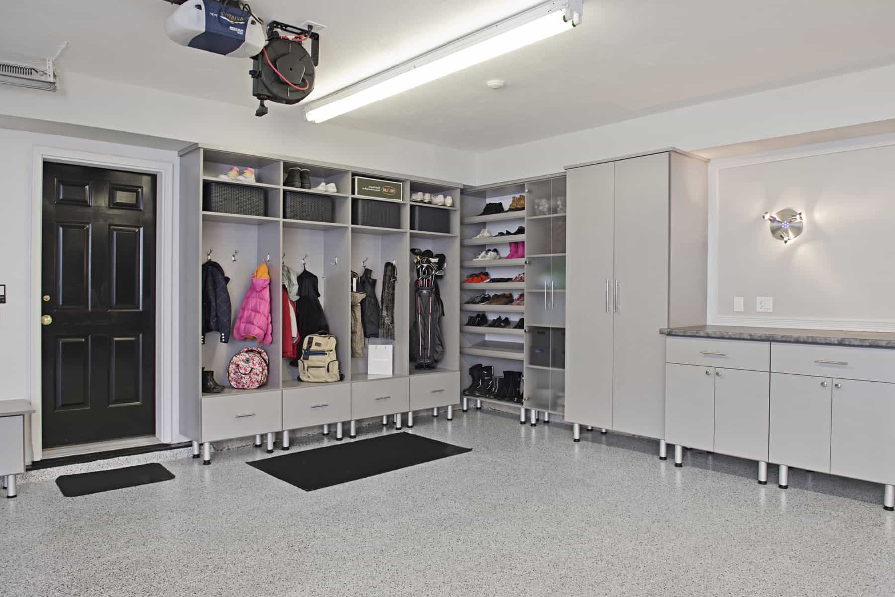 Contemporary Garage Shelves And Storage Organization (Image 3 of 10)