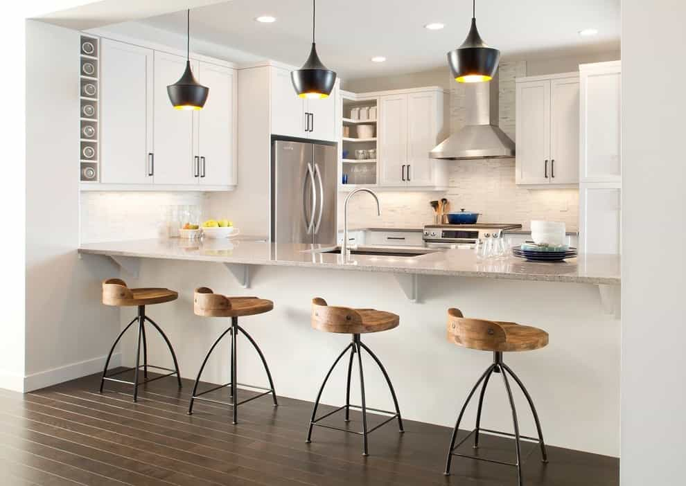 Contemporary Wood Kitchen Bar Stools With Rustic Style (Image 5 of 15)