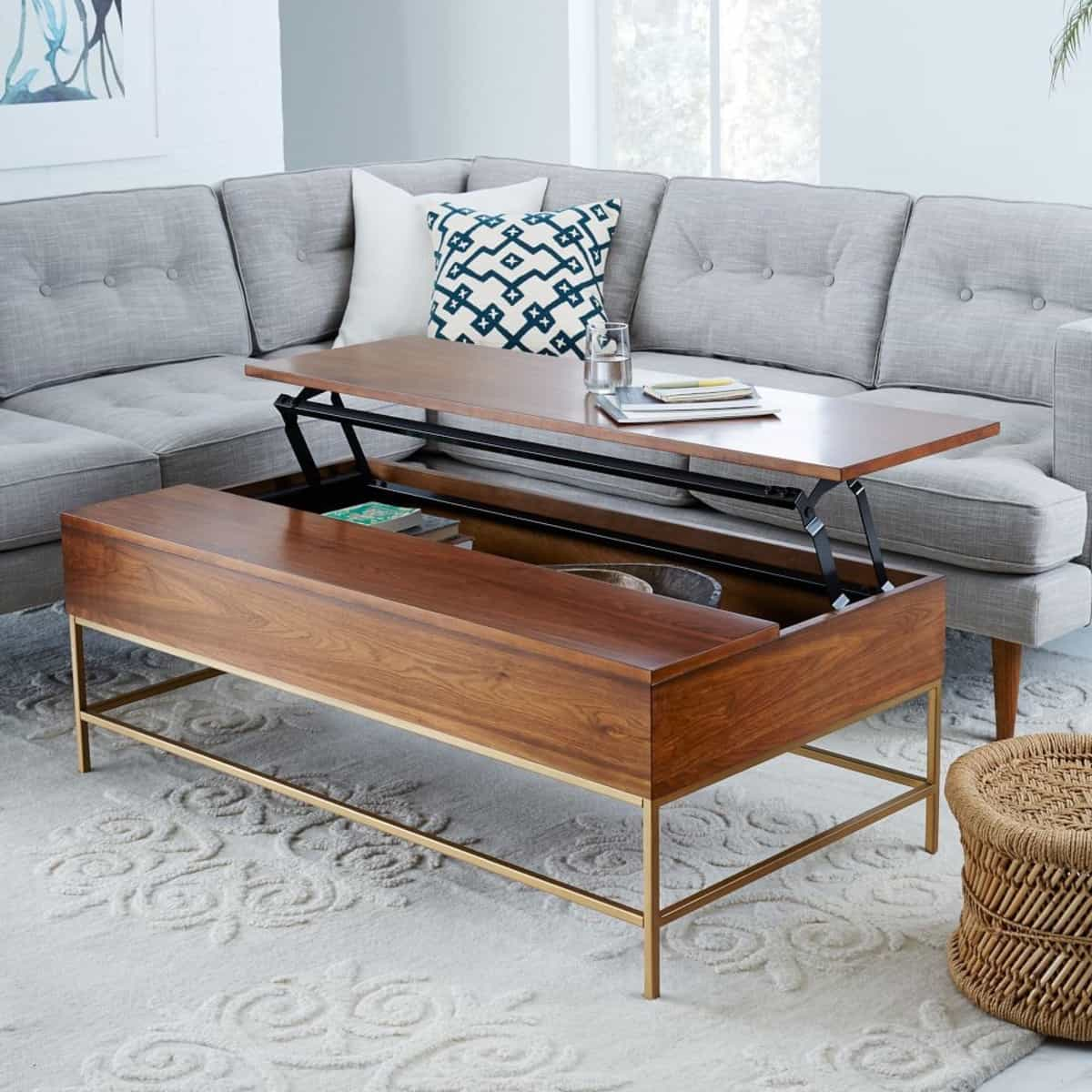 Expandable Modern Wood Coffee Table For Living Room (Image 7 of 30)