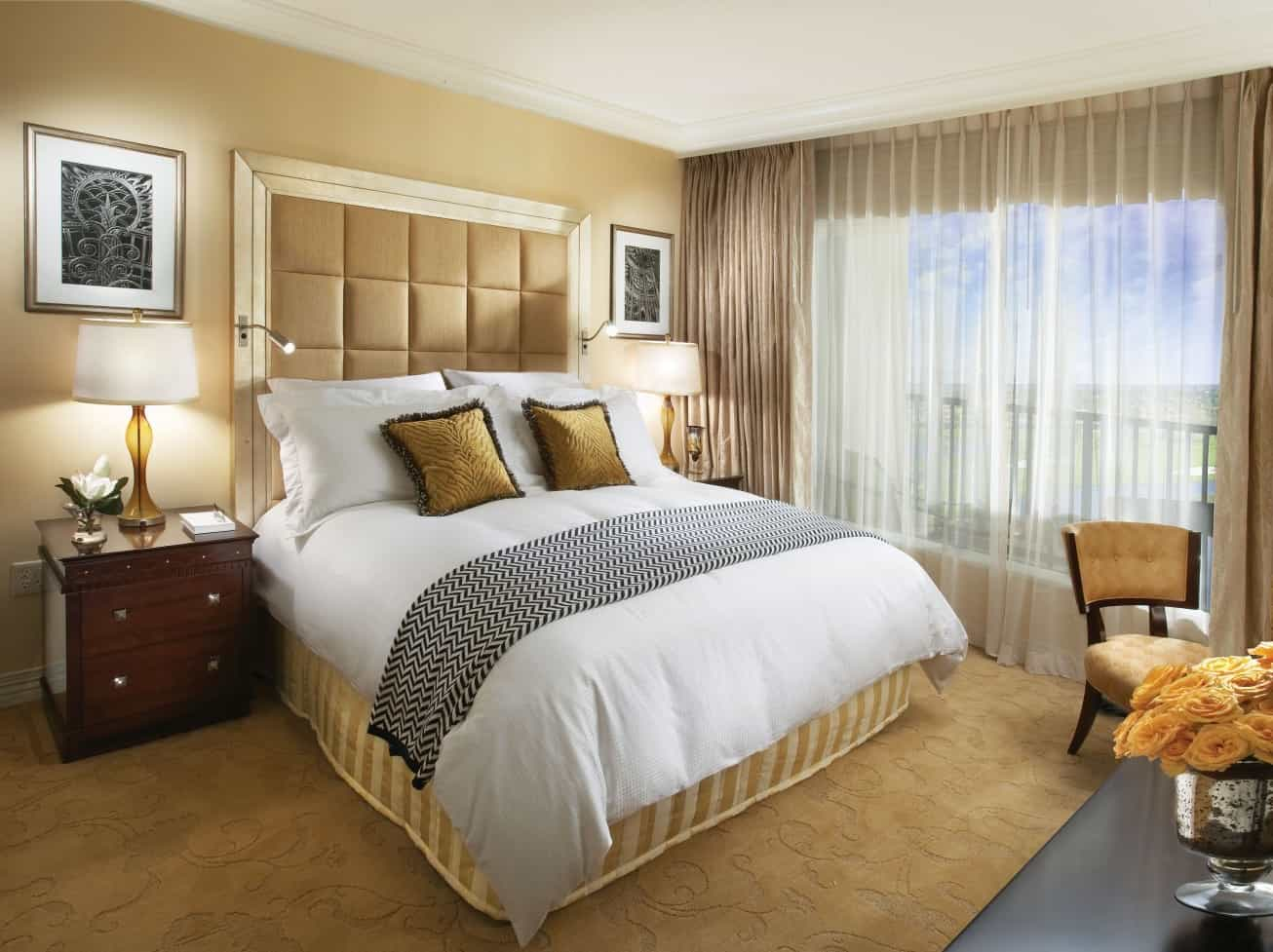 Hotel Bedroom Inspiration With Modern Floor Bedding On A Furry Carpet (Image 11 of 18)