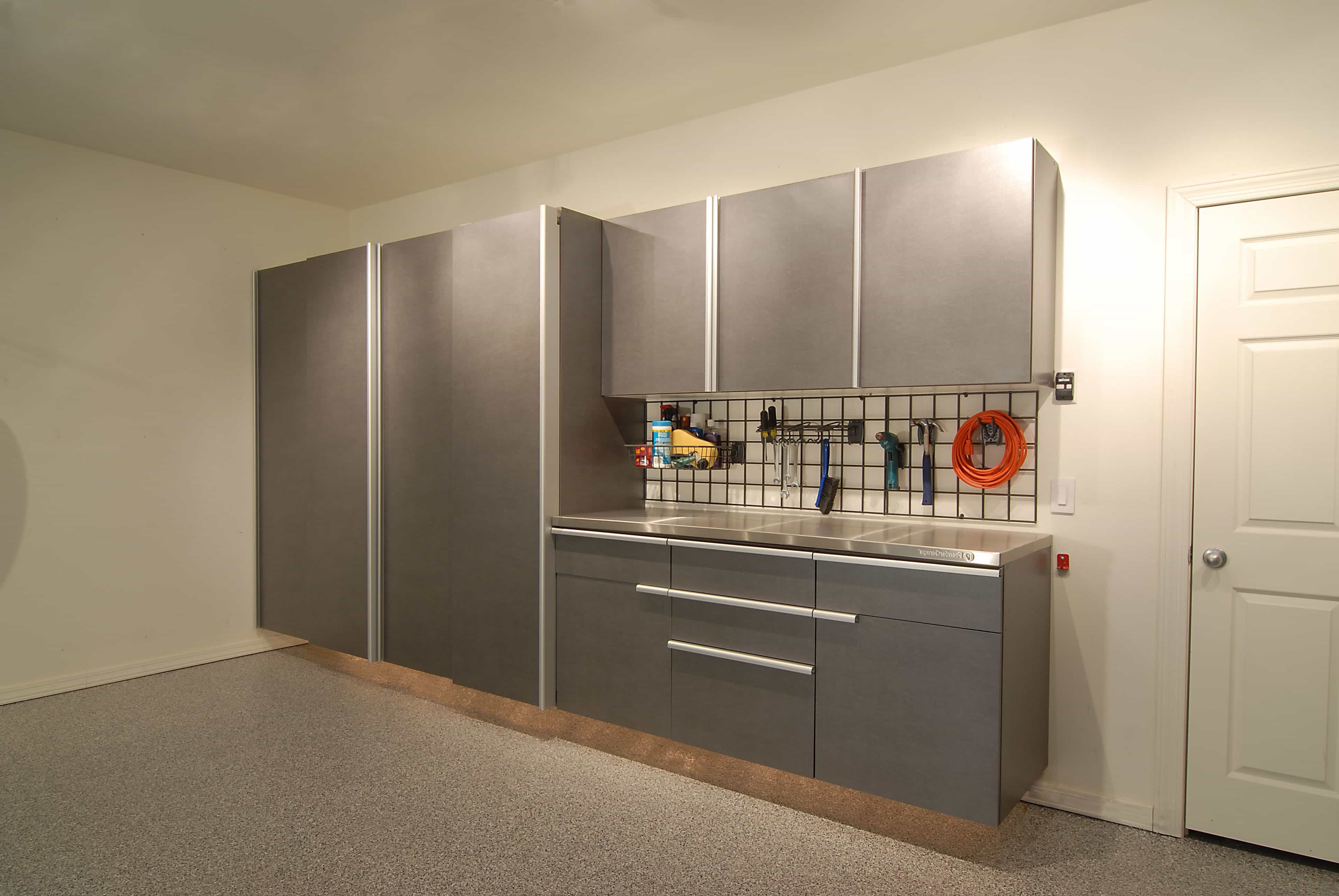 Minimalist Modern Garage Cabinets And Shelves (Image 5 of 10)