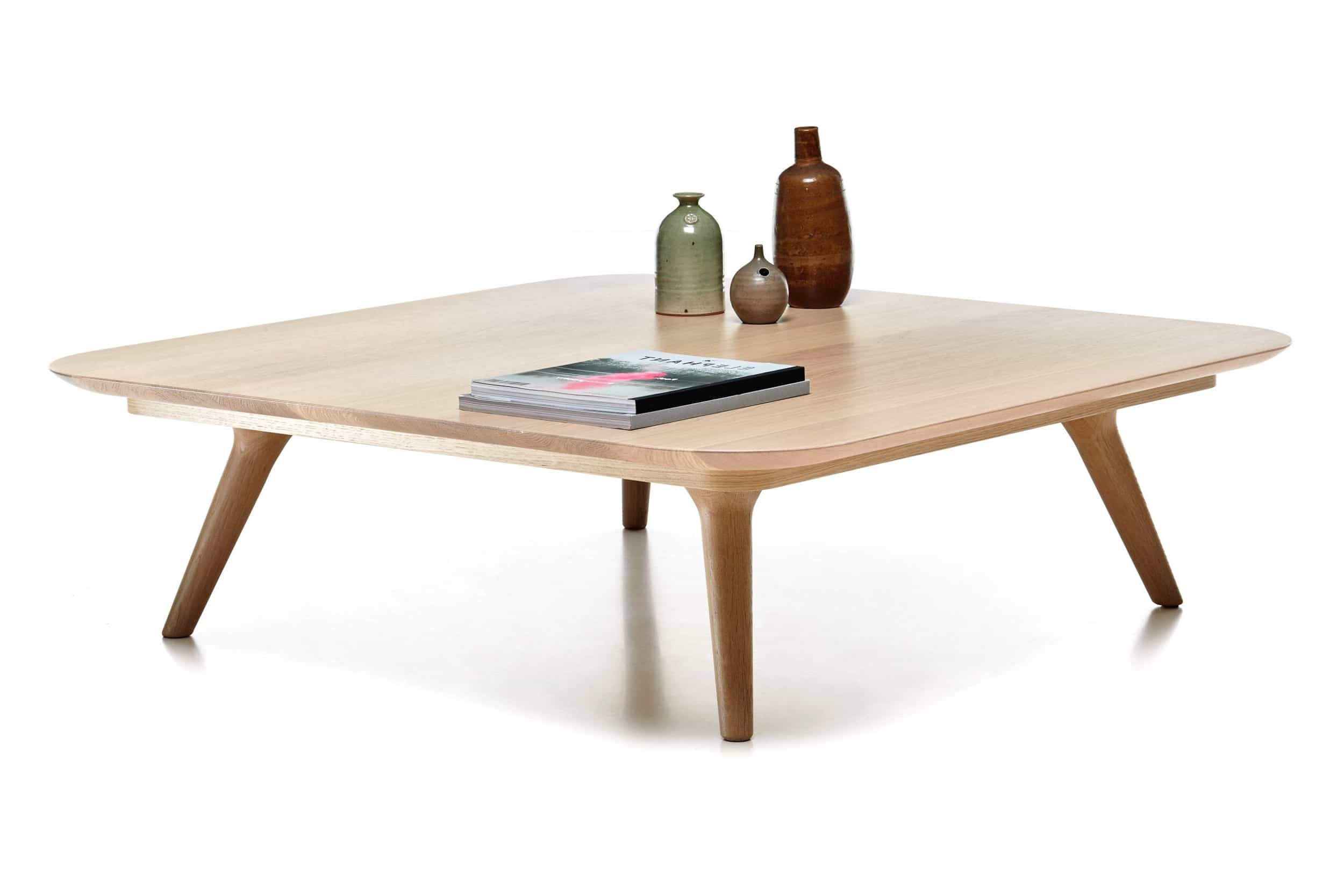 Minimalist Wooden Square Coffee Table Design (Image 16 of 30)