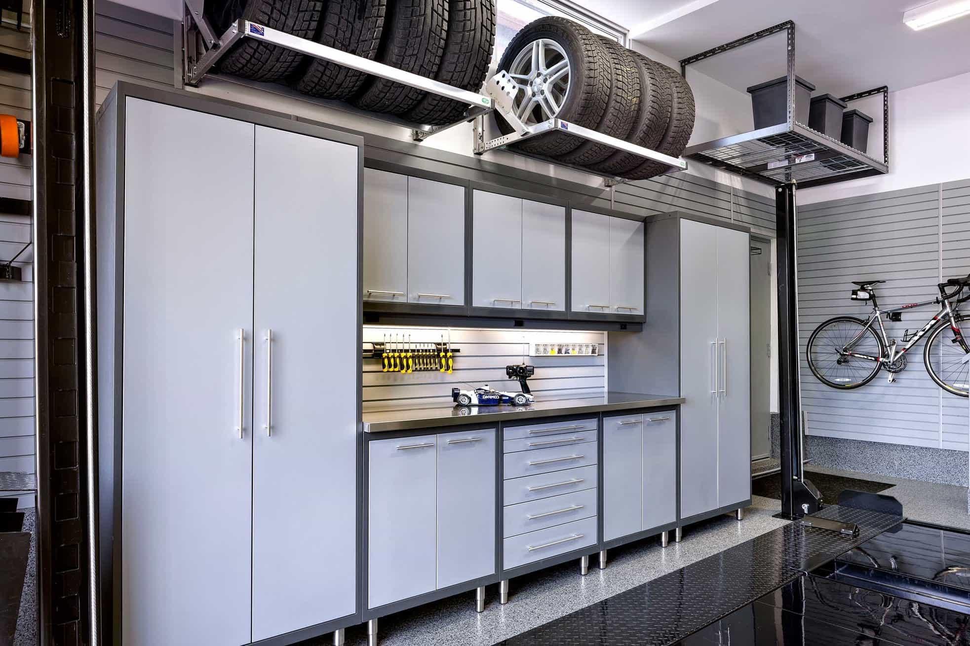 Modern Garage Overhead Storage (Image 7 of 10)