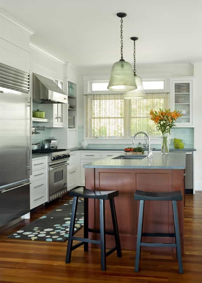 Modern Kitchen Design With Small Windows With Beaded Curtains (View 12 of 23)