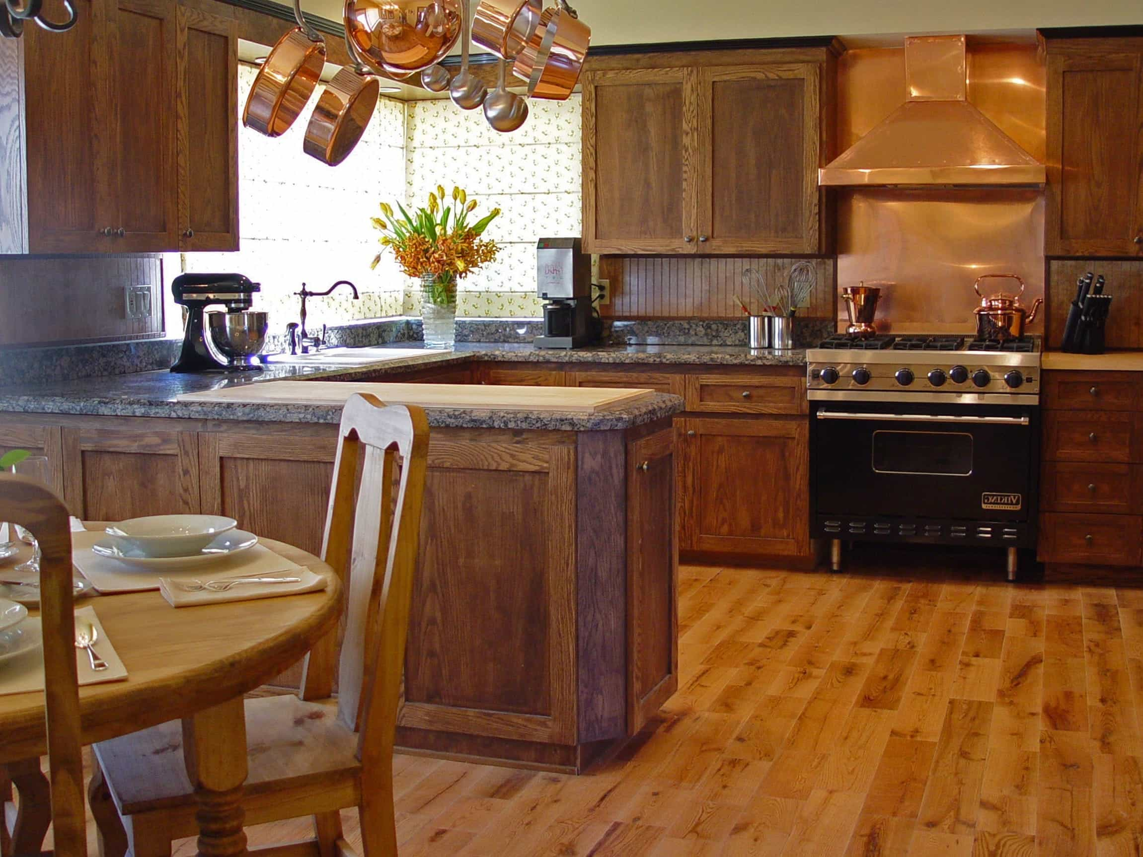 Modern Kitchen With Refinished Hardwood Floor (Image 8 of 12)