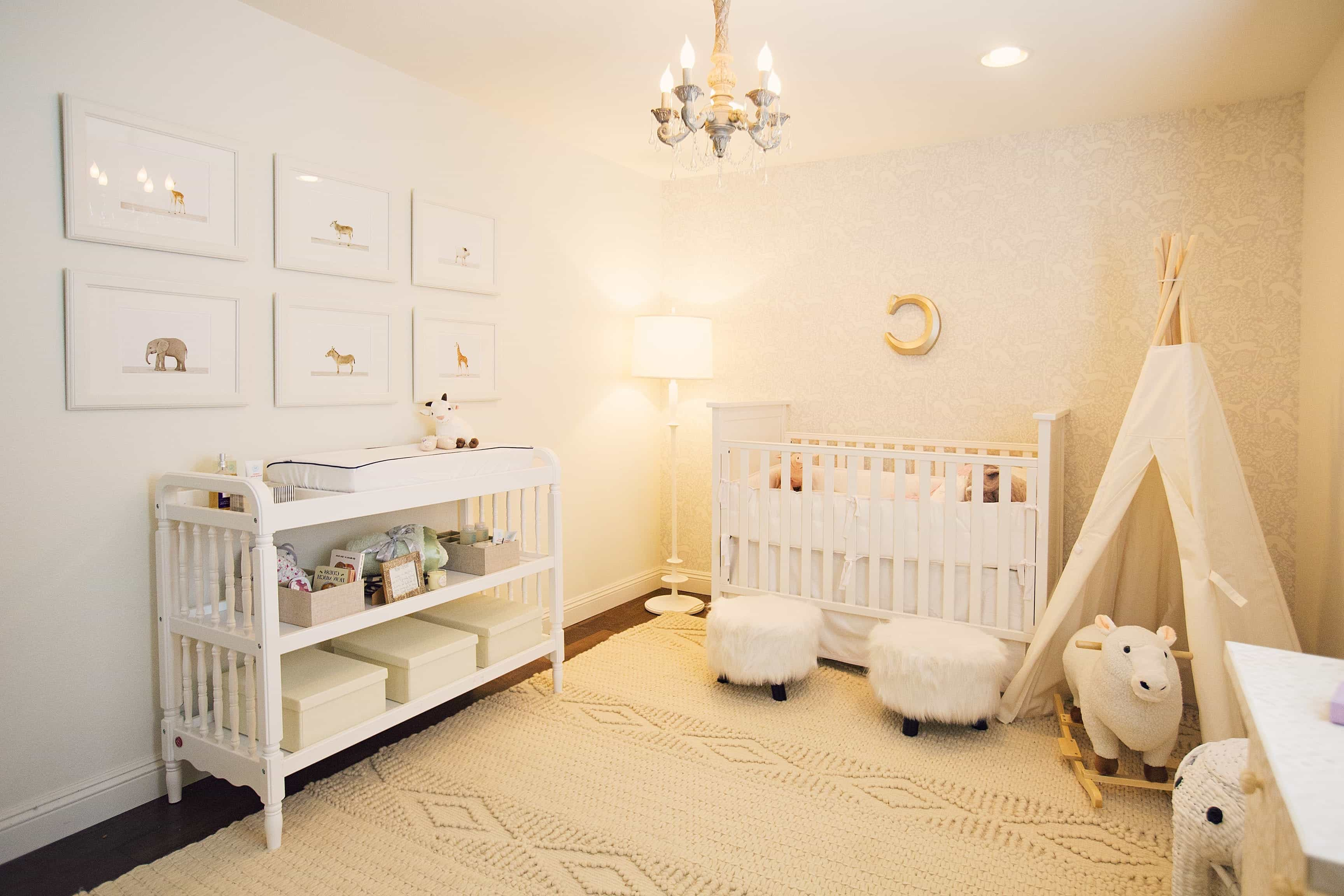 Modern White Nursery With Vintage Inspired Accents (Image 23 of 33)