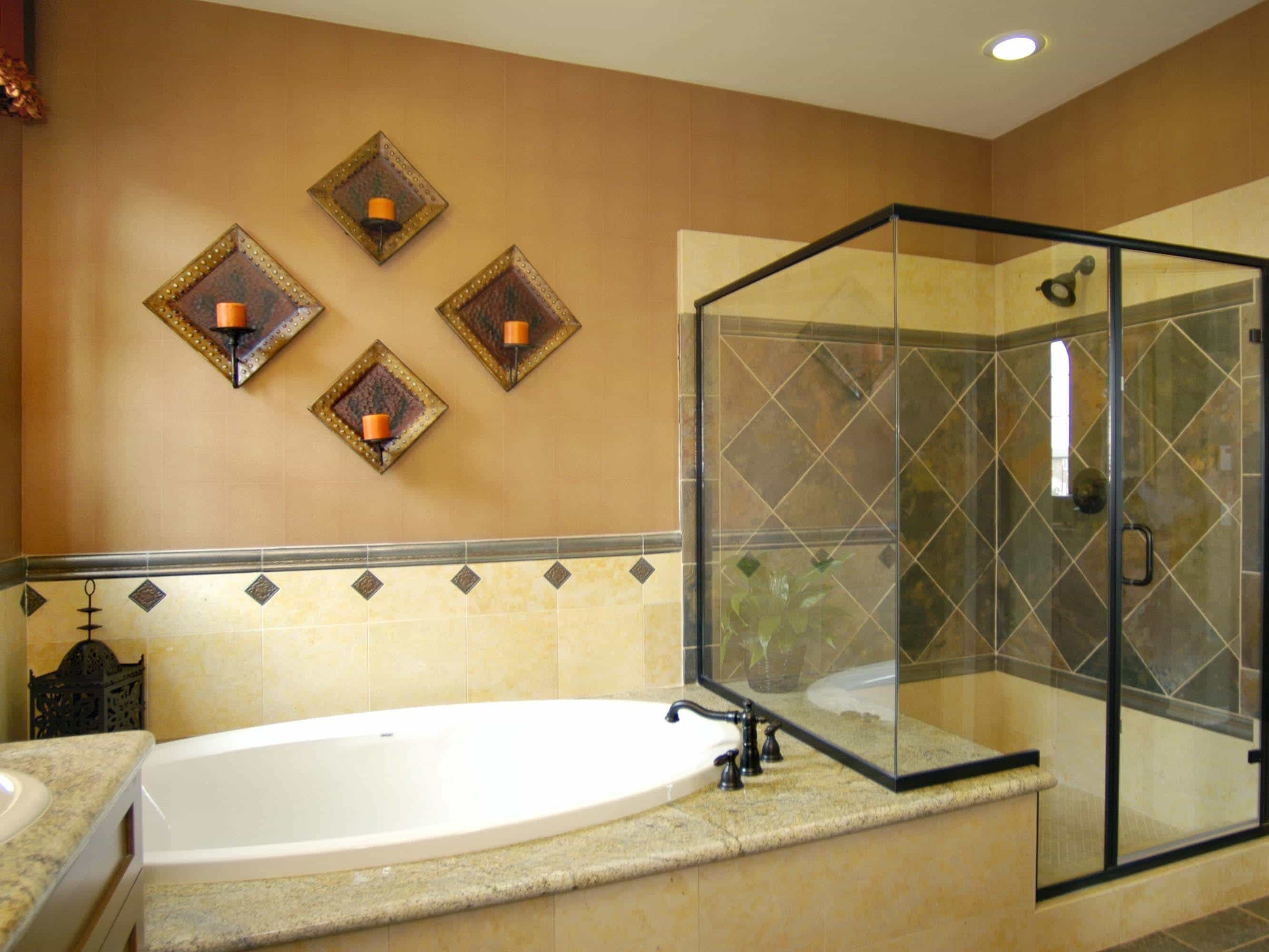 Old World Style Shower And Tub Combo (Image 13 of 16)