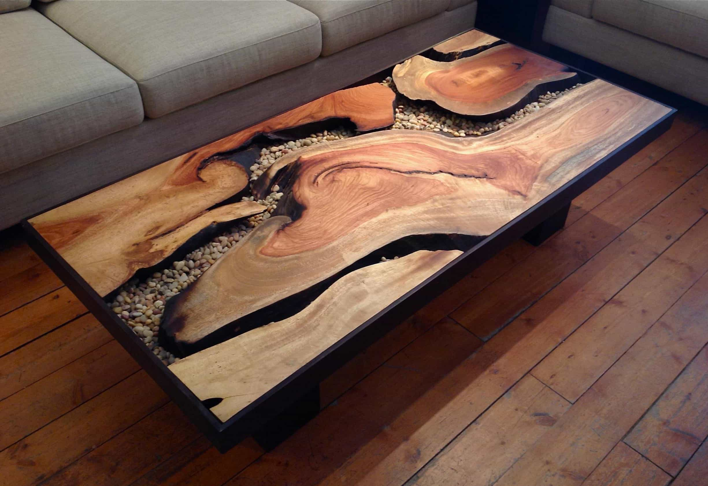Rustic Oak Coffee Table (Image 27 of 30)