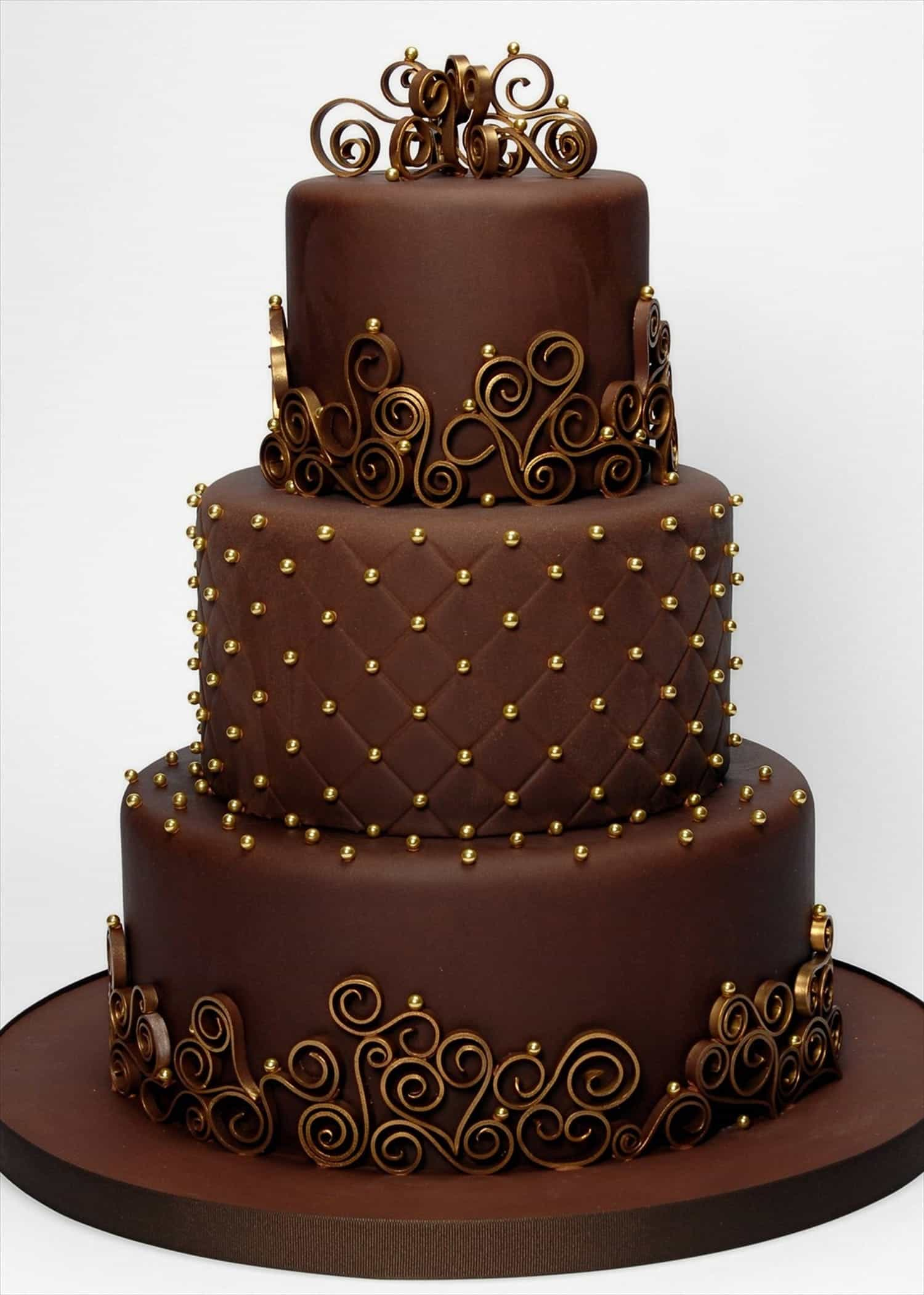 Simple Wedding Chocolate Cakes (Image 17 of 30)