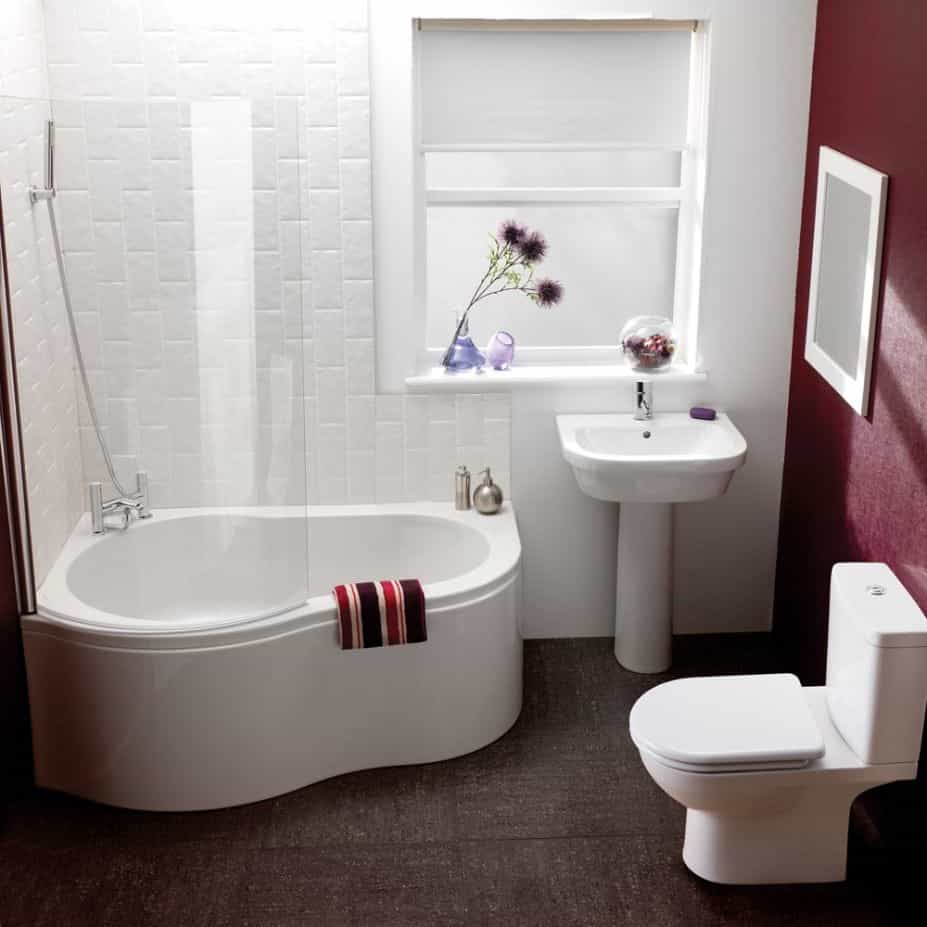 Small Modern Bathroom Remodel With Shower And Bathtub Combo (Image 14 of 14)
