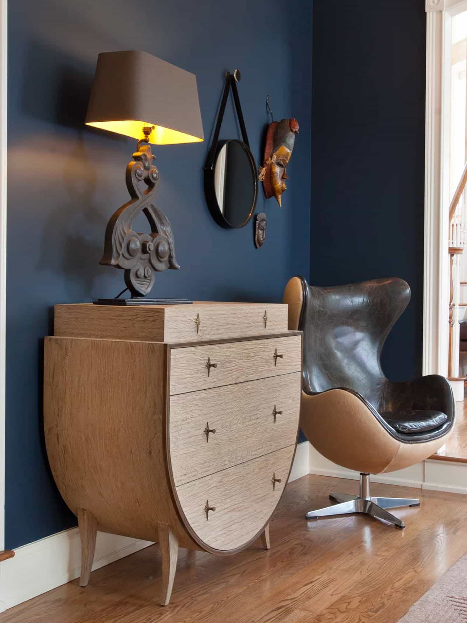 Unique Shape Modern Living Room Chairs And Cabinet (Image 7 of 15)