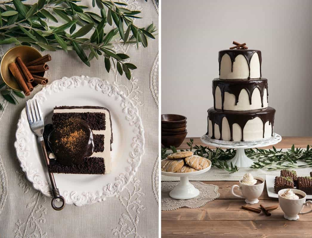 White Chocolate Wedding Cake With Melted Chocolate (View 4 of 30)