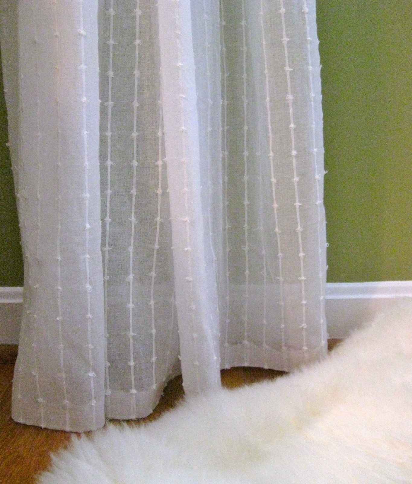 1 Nip Ikea Matilda Sheer Cotton Curtains White 2 Panels Each 55 X For White Sheer Cotton Curtains (Image 1 of 15)