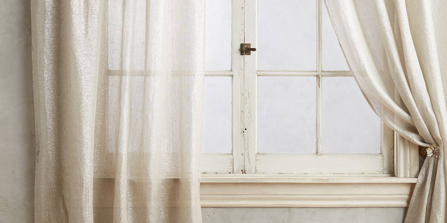 10 Best Sheer Curtains 2017 Pretty Sheer Curtain Panels And Drapes With Heavy Linen Drapes (Image 1 of 15)