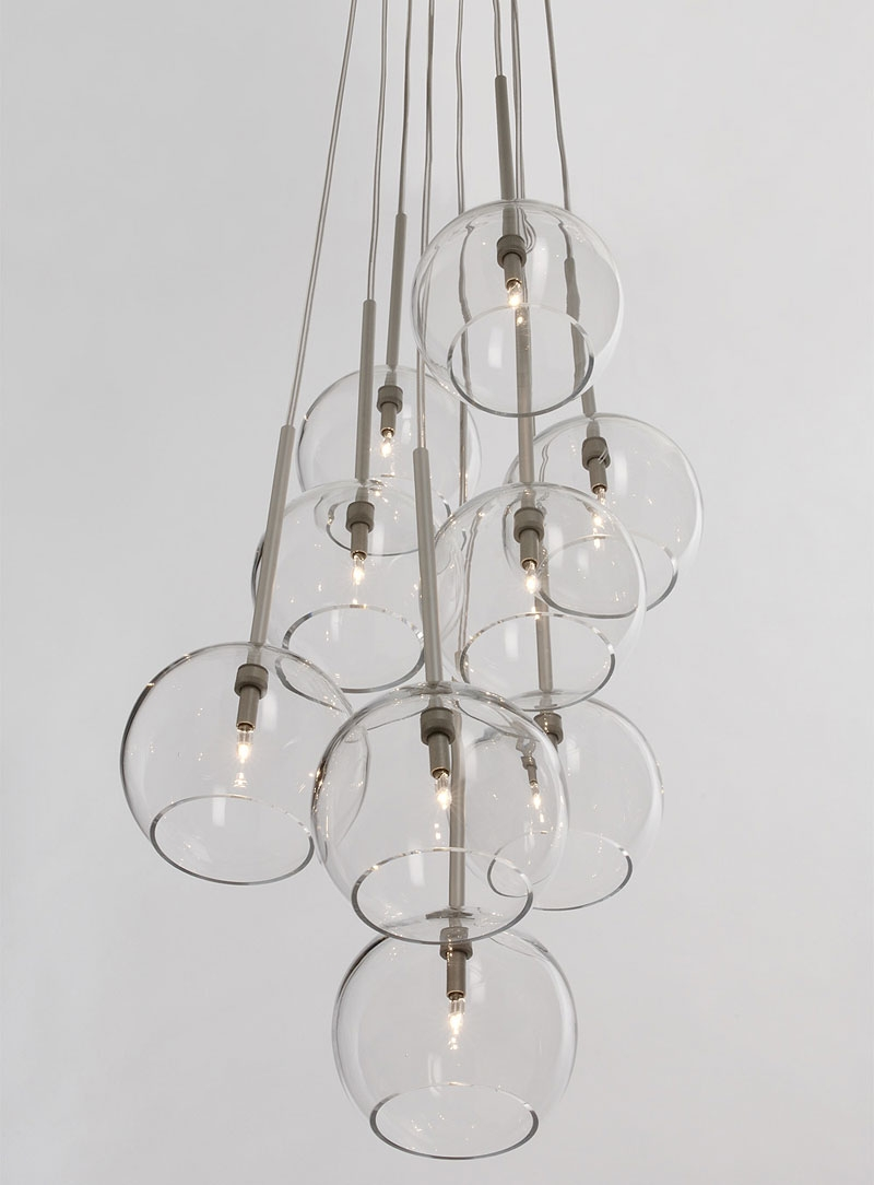 10 Easy Pieces Modern Glass Globe Chandeliers Remodelista Throughout Modern Glass Chandeliers (Image 1 of 15)
