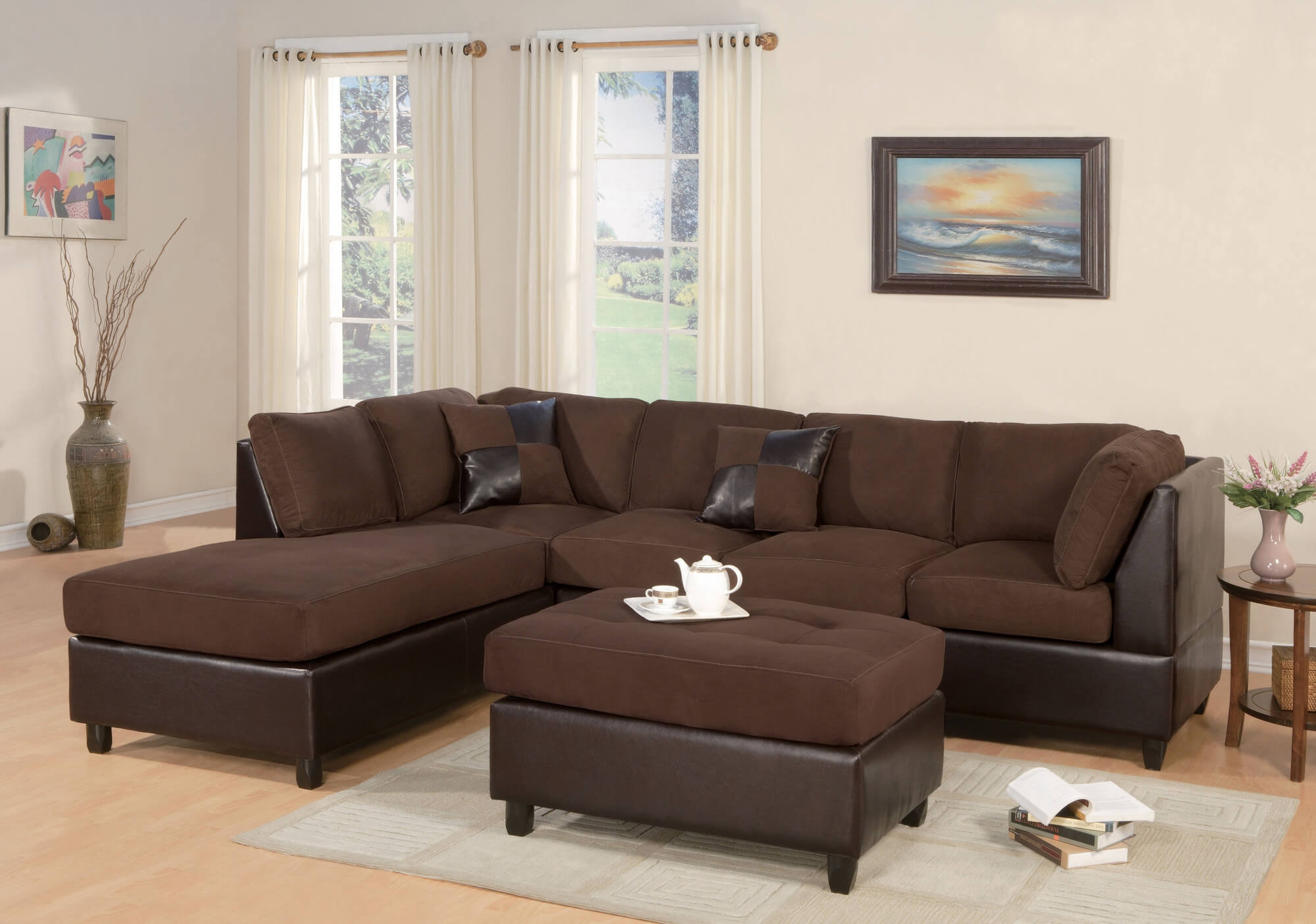 100 Beautiful Sectional Sofas Under 1000 Inside Chocolate Brown Sectional Sofa (Image 2 of 15)