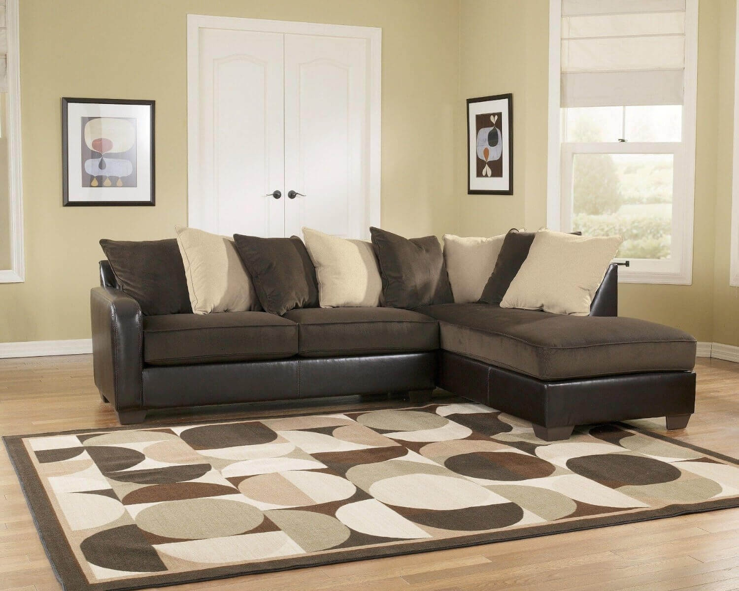 100 Beautiful Sectional Sofas Under 1000 Inside Chocolate Brown Sectional Sofa (Image 1 of 15)