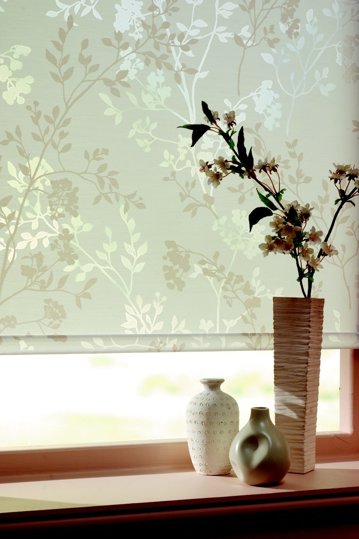 100 Best Images About Roller Blinds On Pinterest Shab Chic Pertaining To Floral Roman Blinds (Image 1 of 15)