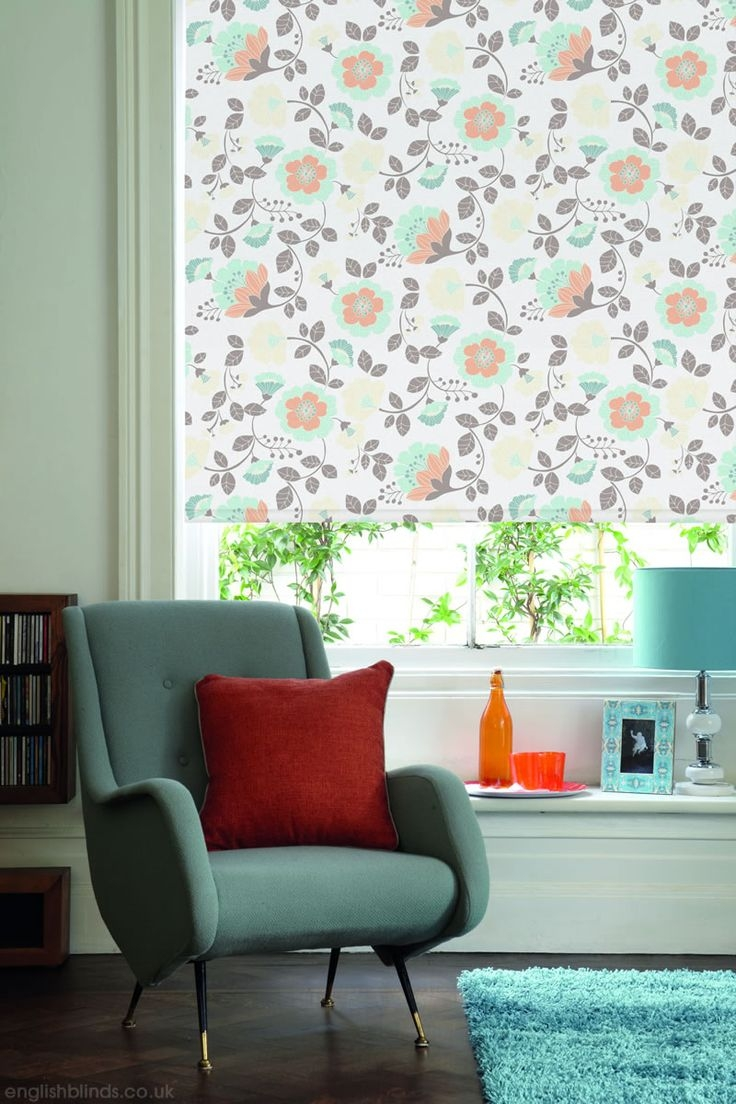 100 Best Images About Roller Blinds On Pinterest Shab Chic Throughout Orange Roller Blinds (Image 1 of 15)
