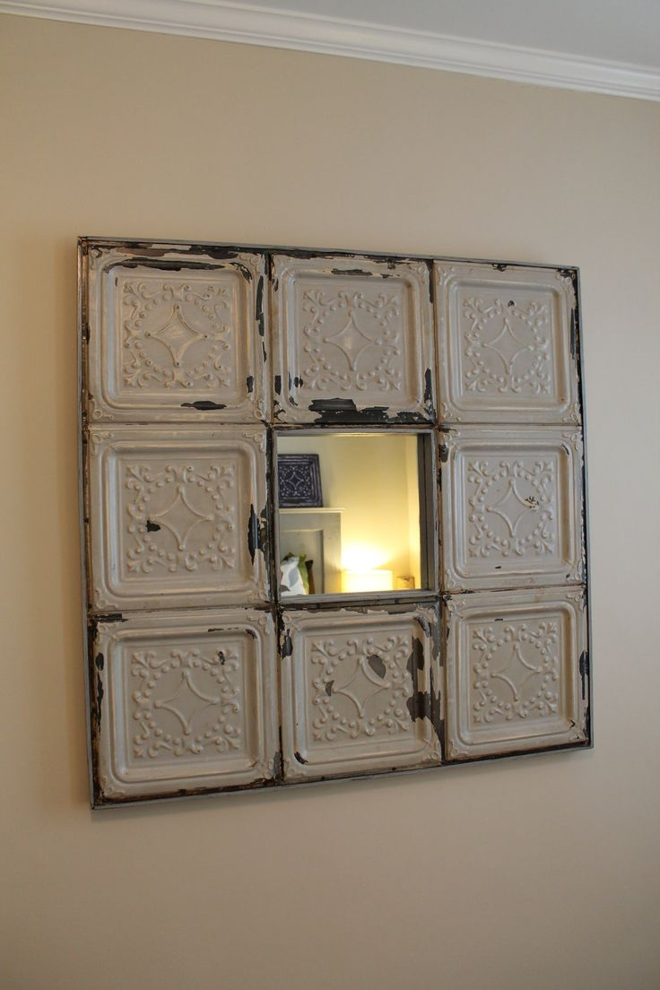 104 Best Images About Antique Ceiling Tile Ideas On Pinterest Throughout Pressed Tin Mirror (Image 1 of 15)