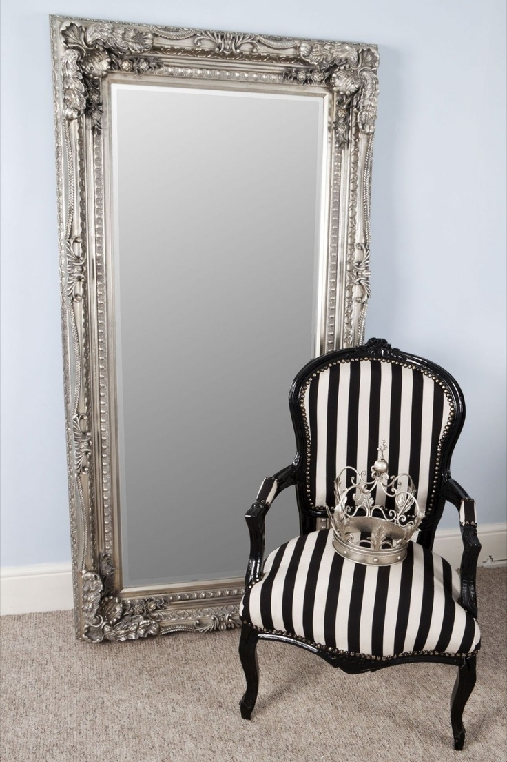 104 Best Images About Mirrors On Pinterest Floor Mirrors With Silver Floor Standing Mirror (Image 1 of 15)
