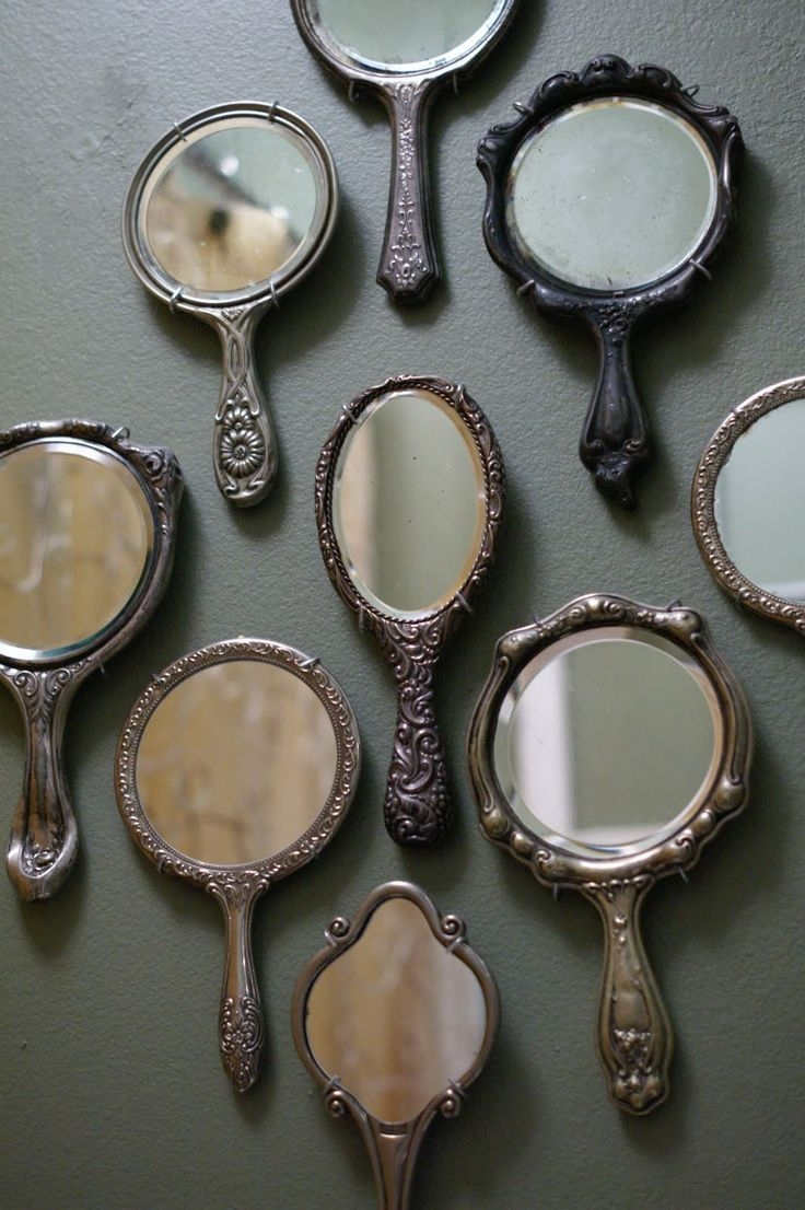 105 Best Images About Vintage Mirrors On Pinterest Antiques Throughout Small Antique Mirror (Image 1 of 15)