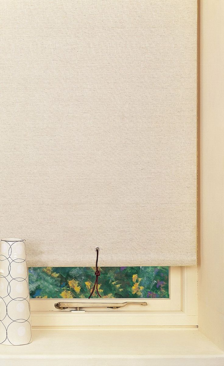 11 Best Images About Linen Roller Blinds On Pinterest Green With Linen Roller Blind (Image 1 of 15)