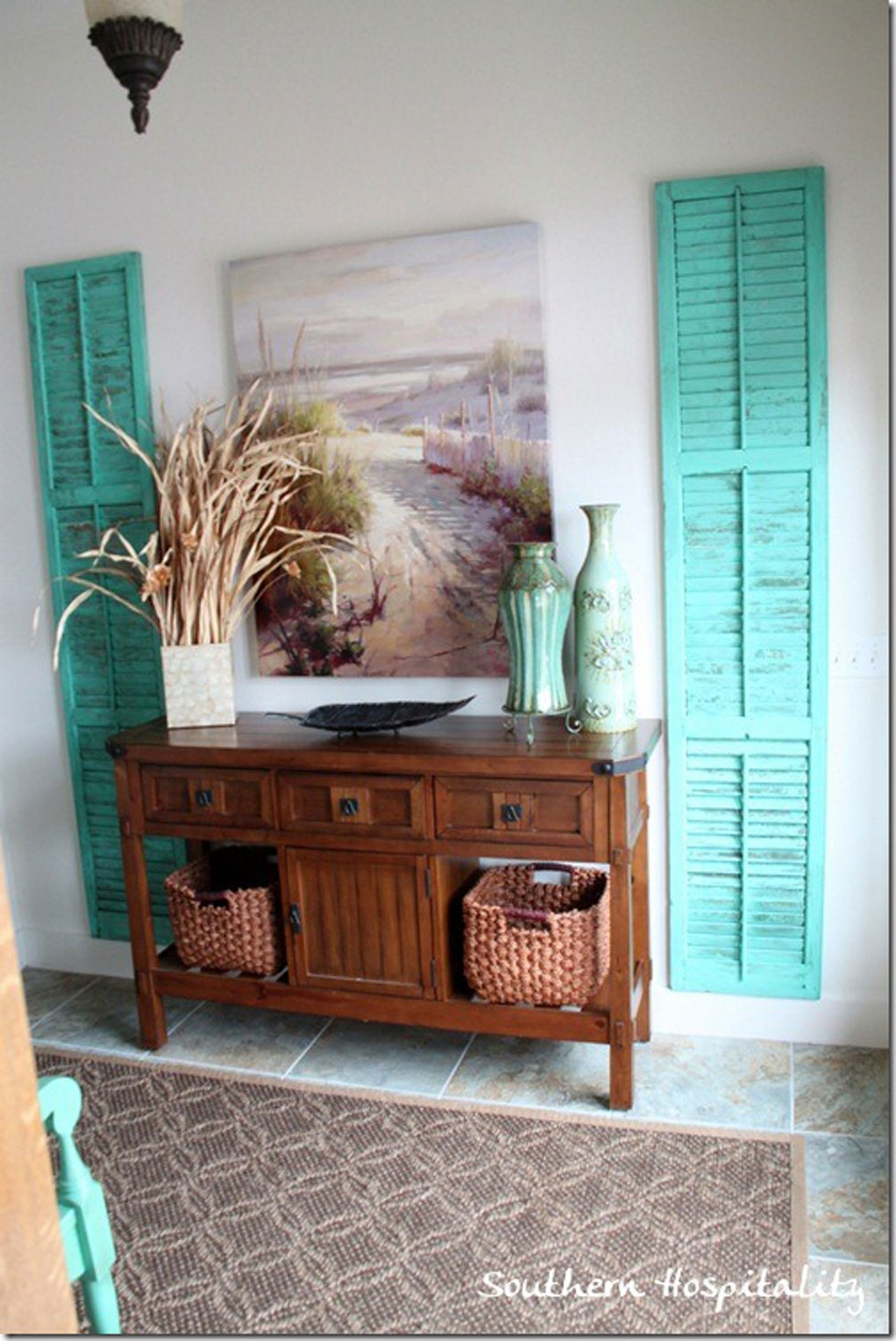 11 Repurposed Shutter Crafts Recycled Craft Ideas For Wall Mirror With Shutters (Image 1 of 15)