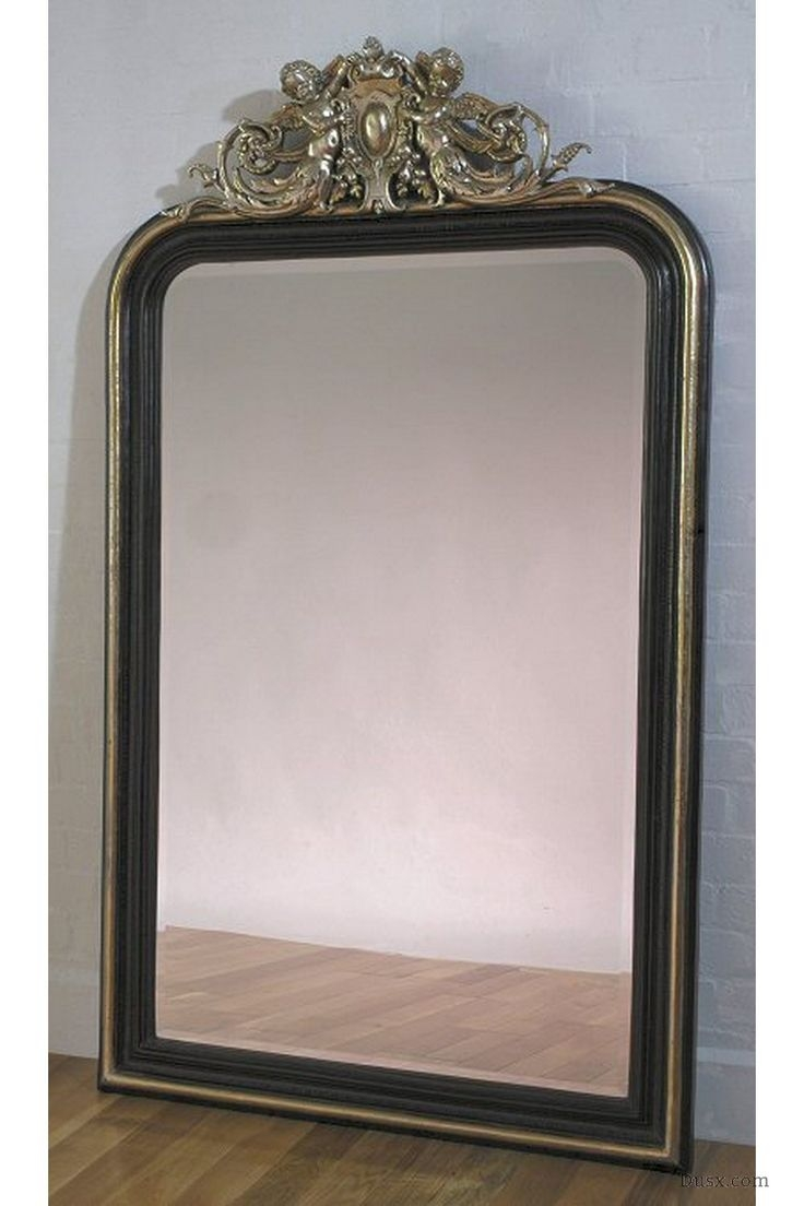 110 Best Images About What Is The Style French Rococo Mirrors On Within Black Mirrors For Sale (Image 1 of 15)