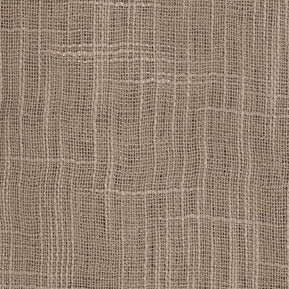 110 Faux Linen Sheer Champagne Discount Designer Fabric With Regard To Textured Linen Curtains (Image 1 of 15)