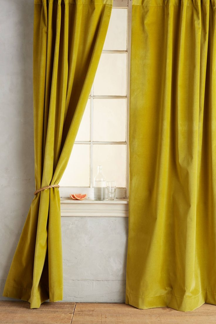 113 Best Images About Textile Linge De Fentre On Pinterest Pertaining To Yellow Velvet Curtains (Image 1 of 15)
