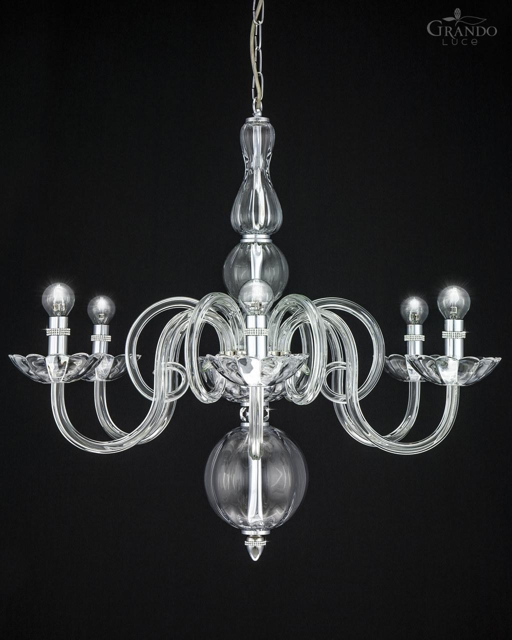 1186 Ch Chrome Crystal Chandelier Decorated With Swarovski With Chrome Chandeliers (Image 1 of 15)